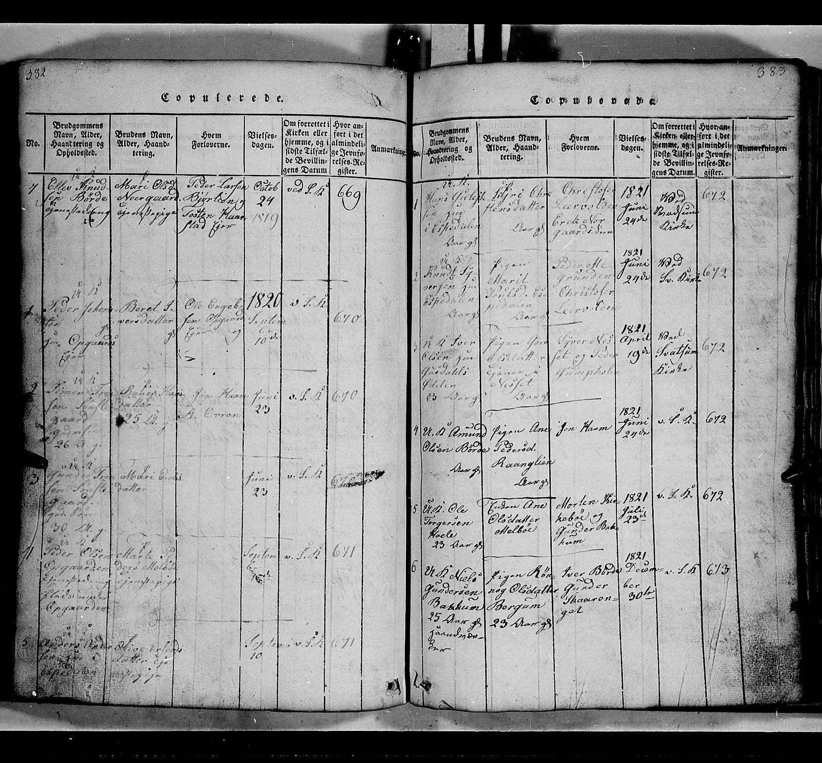 SAH, Gausdal prestekontor, Klokkerbok nr. 2, 1818-1874, s. 382-383