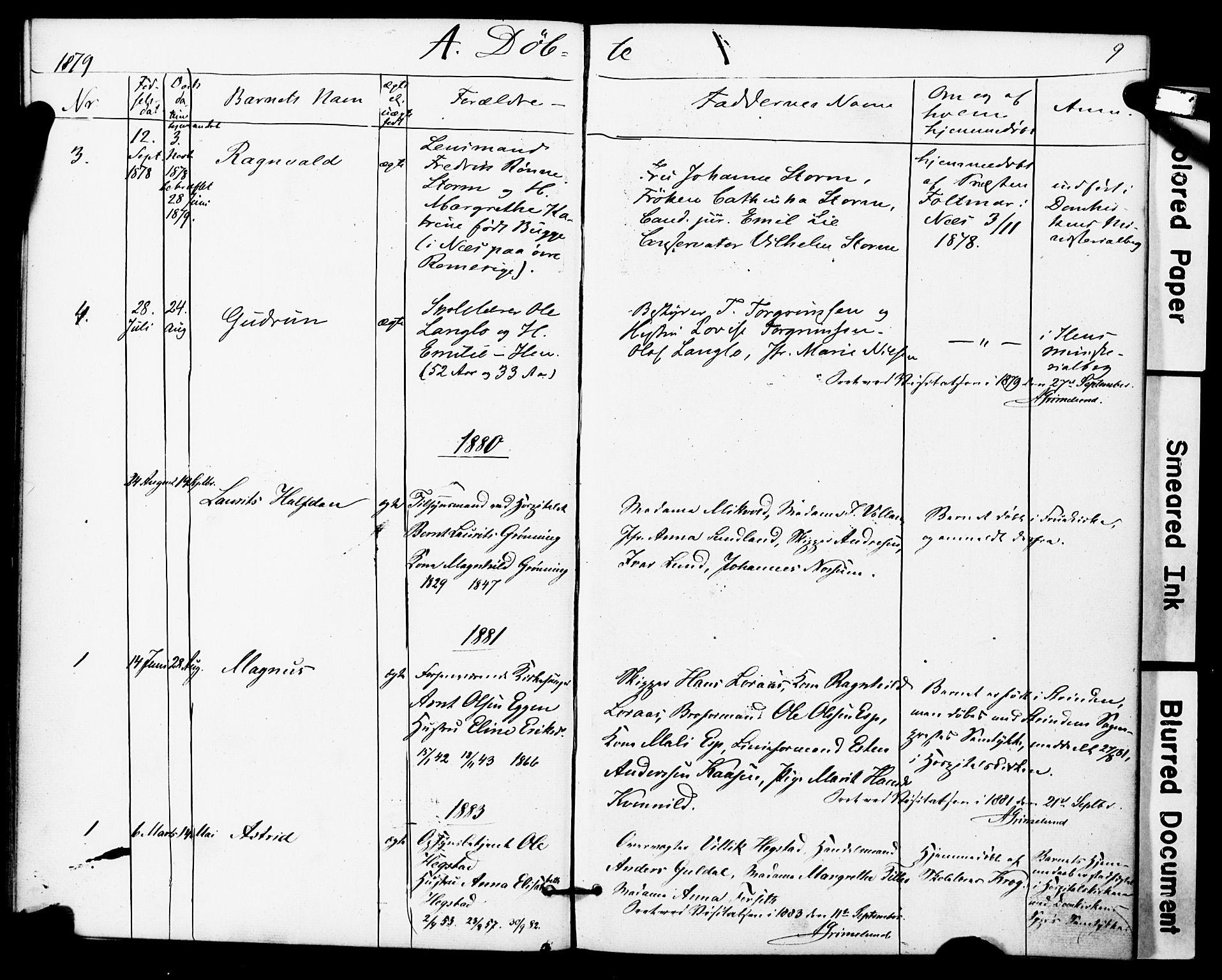 SAT, Ministerialprotokoller, klokkerbøker og fødselsregistre - Sør-Trøndelag, 623/L0469: Ministerialbok nr. 623A03, 1868-1883, s. 9
