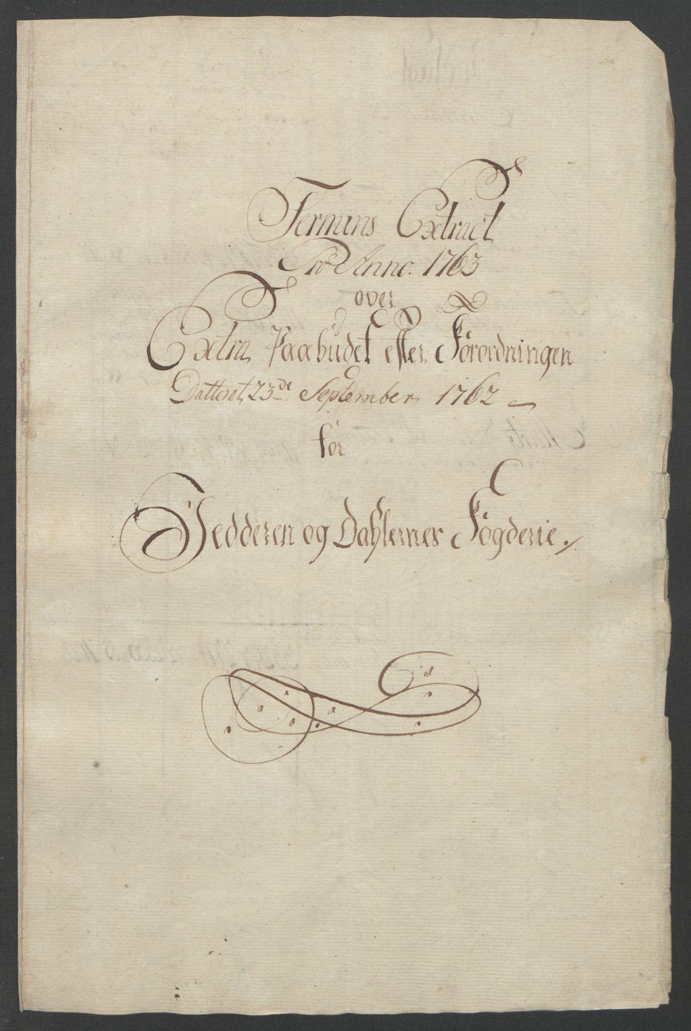 RA, Rentekammeret inntil 1814, Reviderte regnskaper, Fogderegnskap, R46/L2835: Ekstraskatten Jæren og Dalane, 1762-1764, s. 59