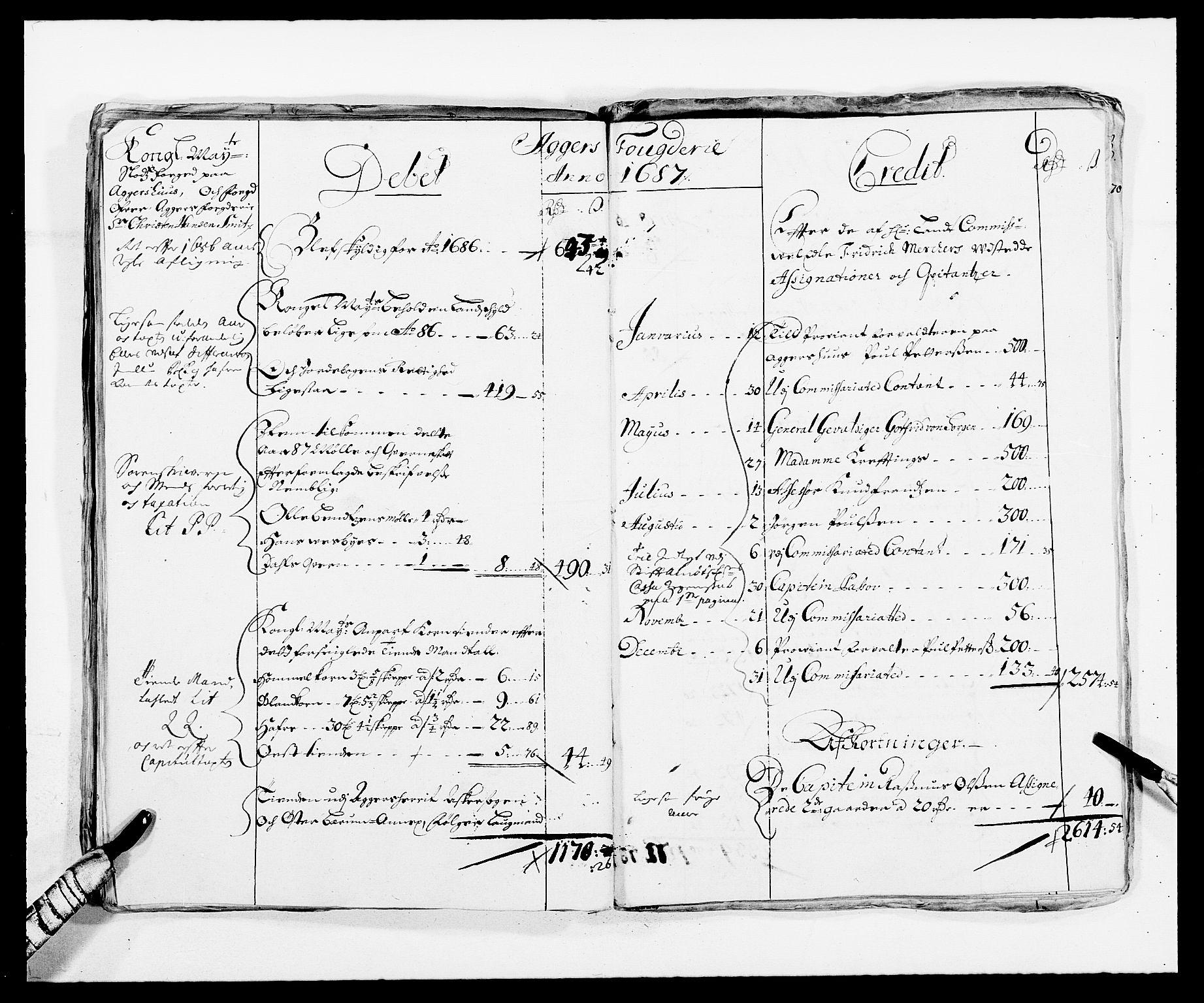 RA, Rentekammeret inntil 1814, Reviderte regnskaper, Fogderegnskap, R08/L0420: Fogderegnskap Aker, 1682-1691, s. 64