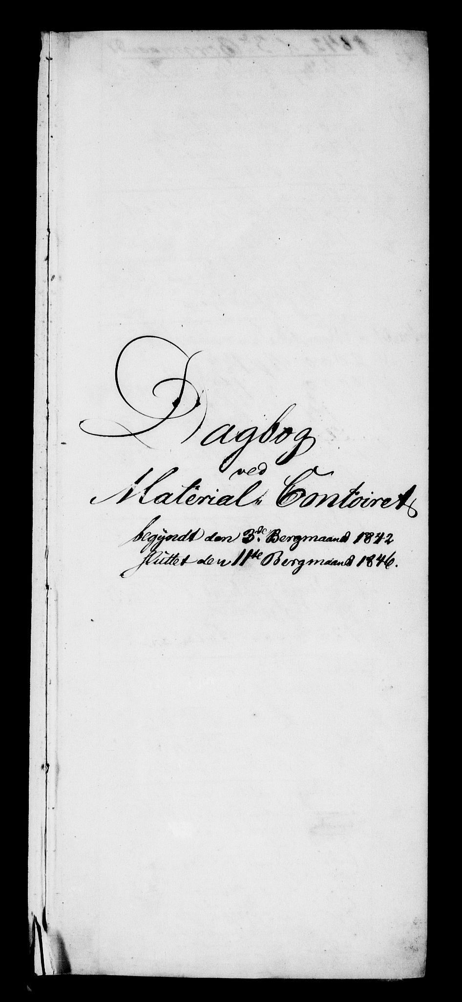 RA, Modums Blaafarveværk, G/Gd/Gdb/L0202: Annotations Bog, Dagbok over inn- og utgående materiale, 1842-1846, s. 2