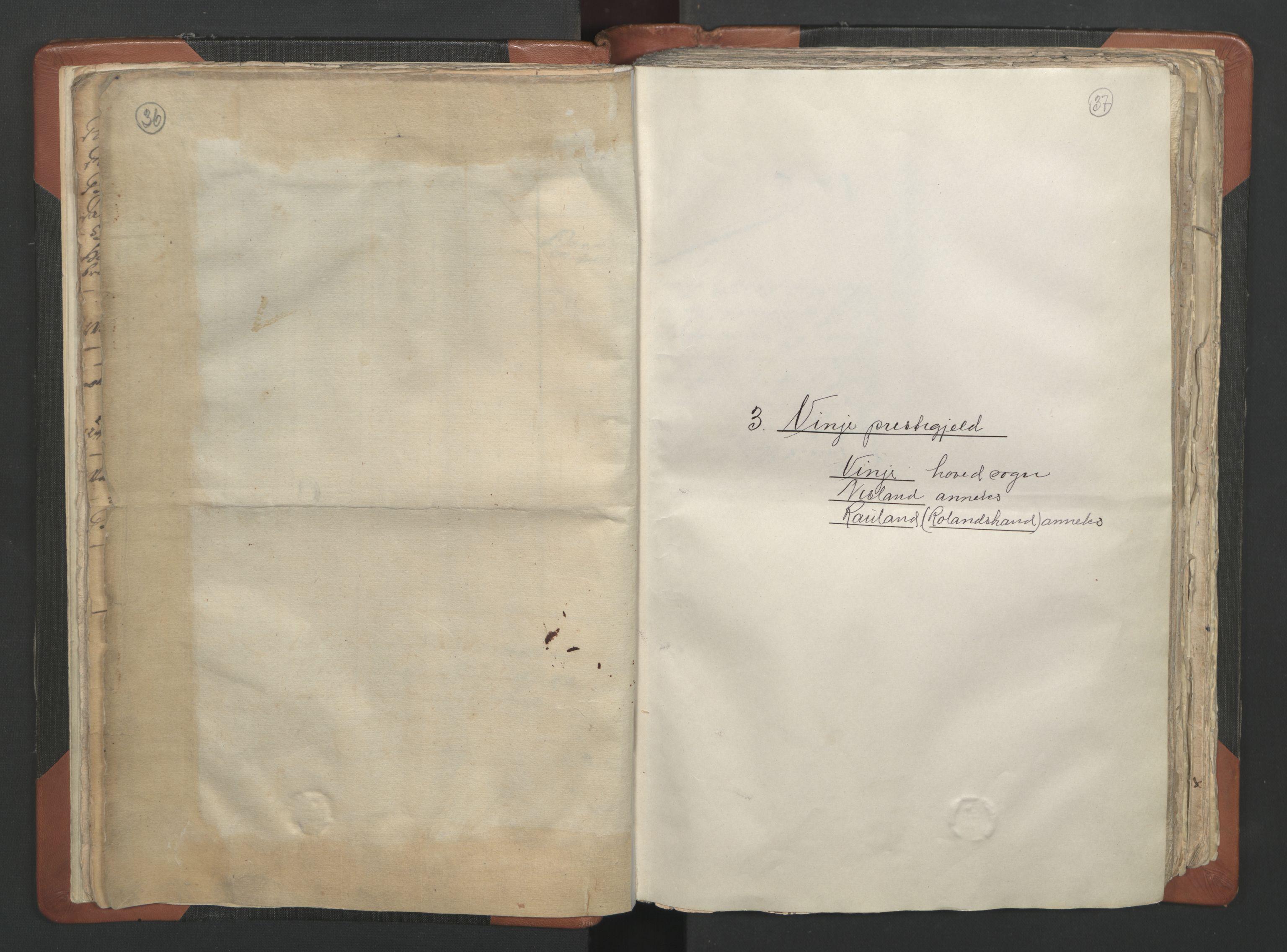 RA, Sogneprestenes manntall 1664-1666, nr. 12: Øvre Telemark prosti, Nedre Telemark prosti og Bamble prosti, 1664-1666, s. 36-37