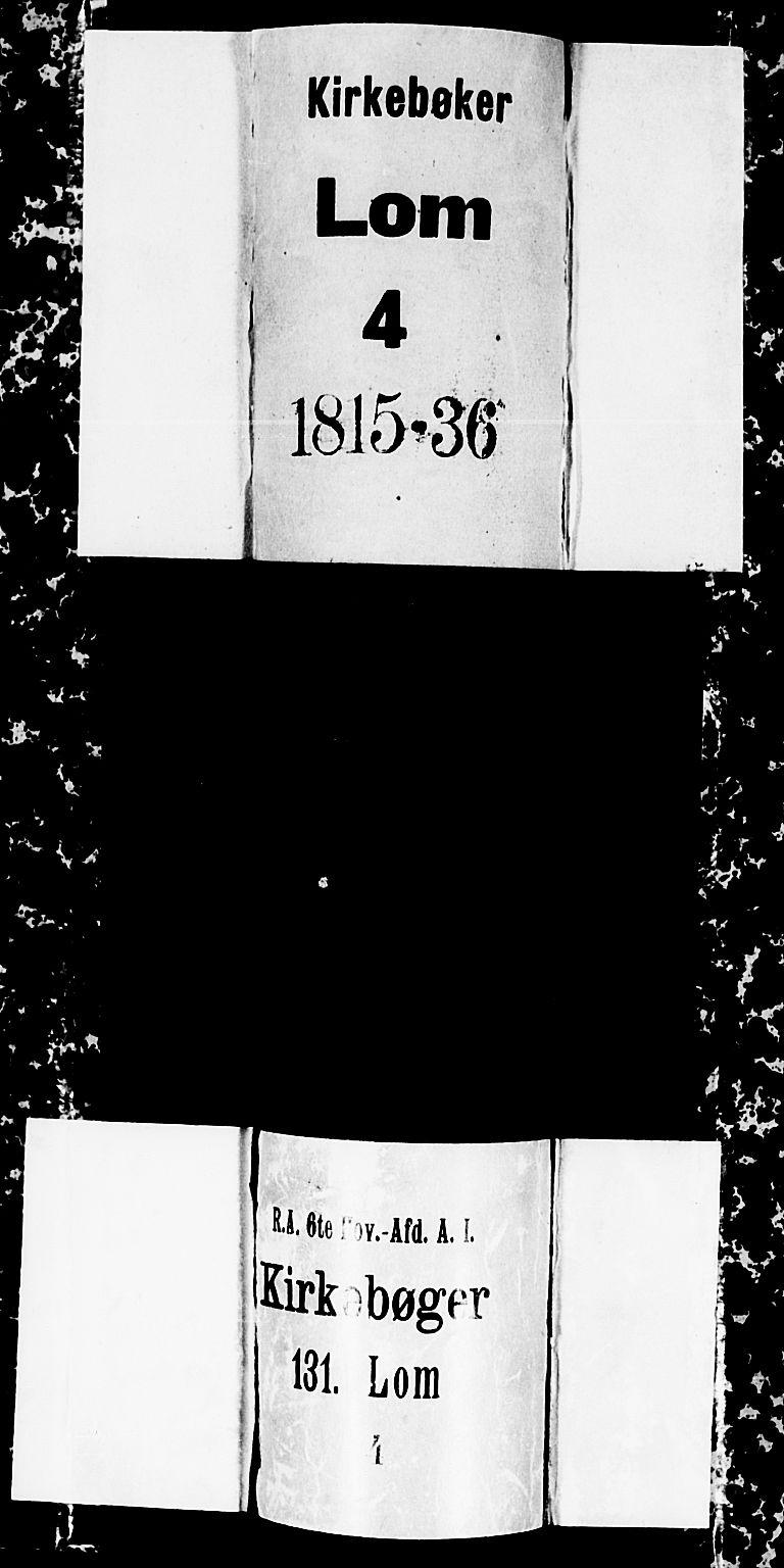 SAH, Lom prestekontor, L/L0001: Klokkerbok nr. 1, 1815-1836