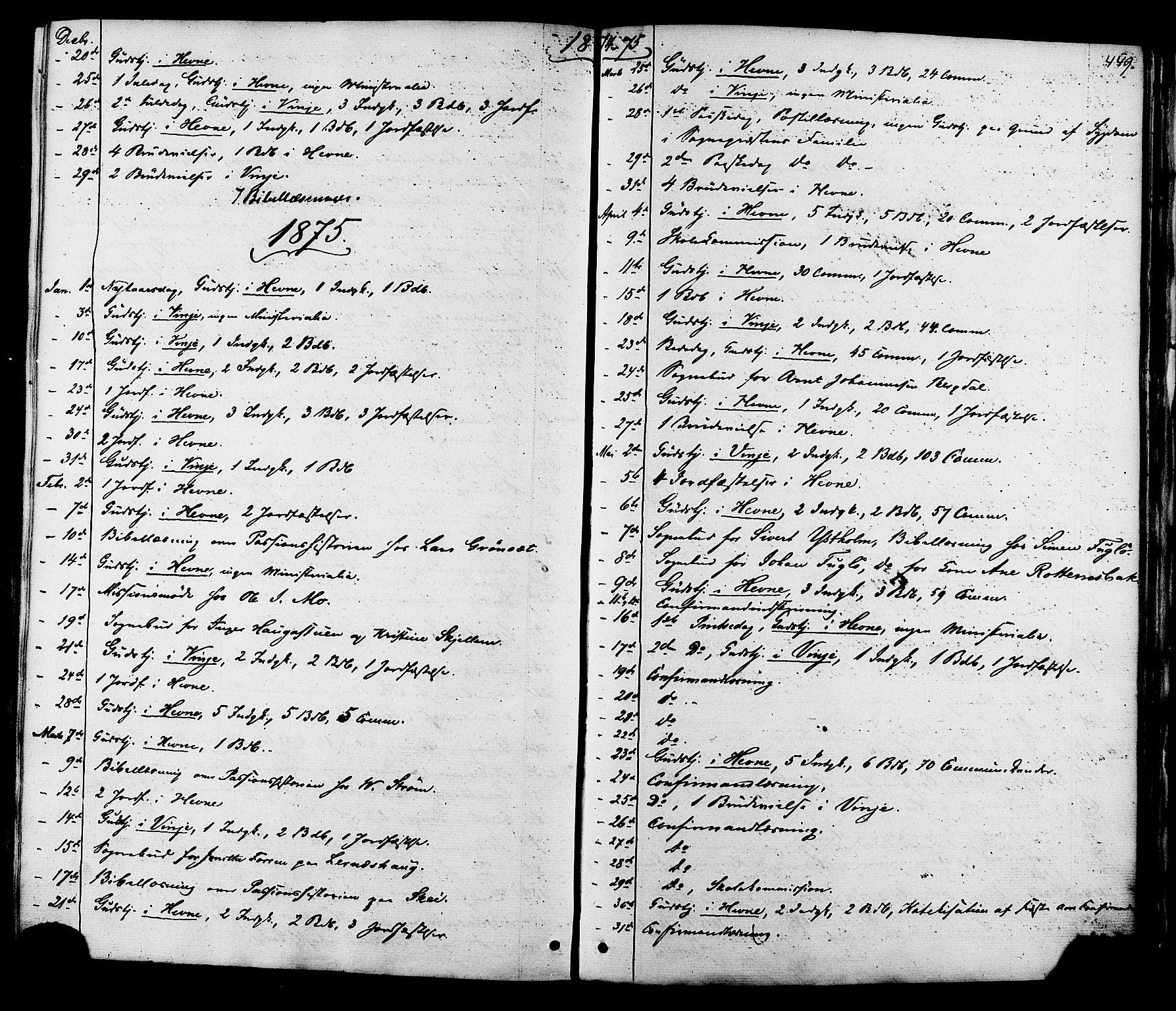 SAT, Ministerialprotokoller, klokkerbøker og fødselsregistre - Sør-Trøndelag, 630/L0495: Ministerialbok nr. 630A08, 1868-1878, s. 449