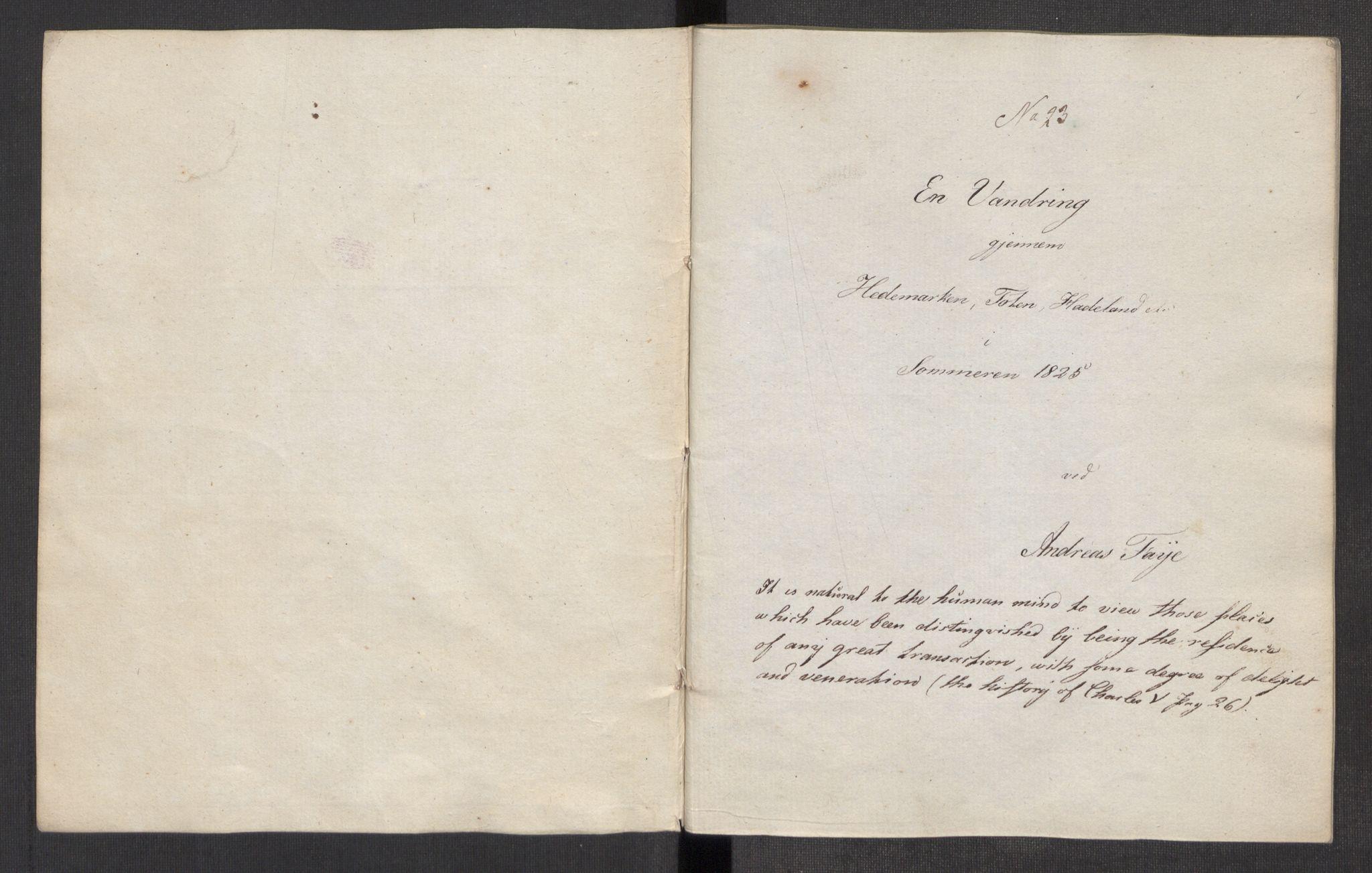 RA, Faye, Andreas, F/Ff/L0022: --, 1825