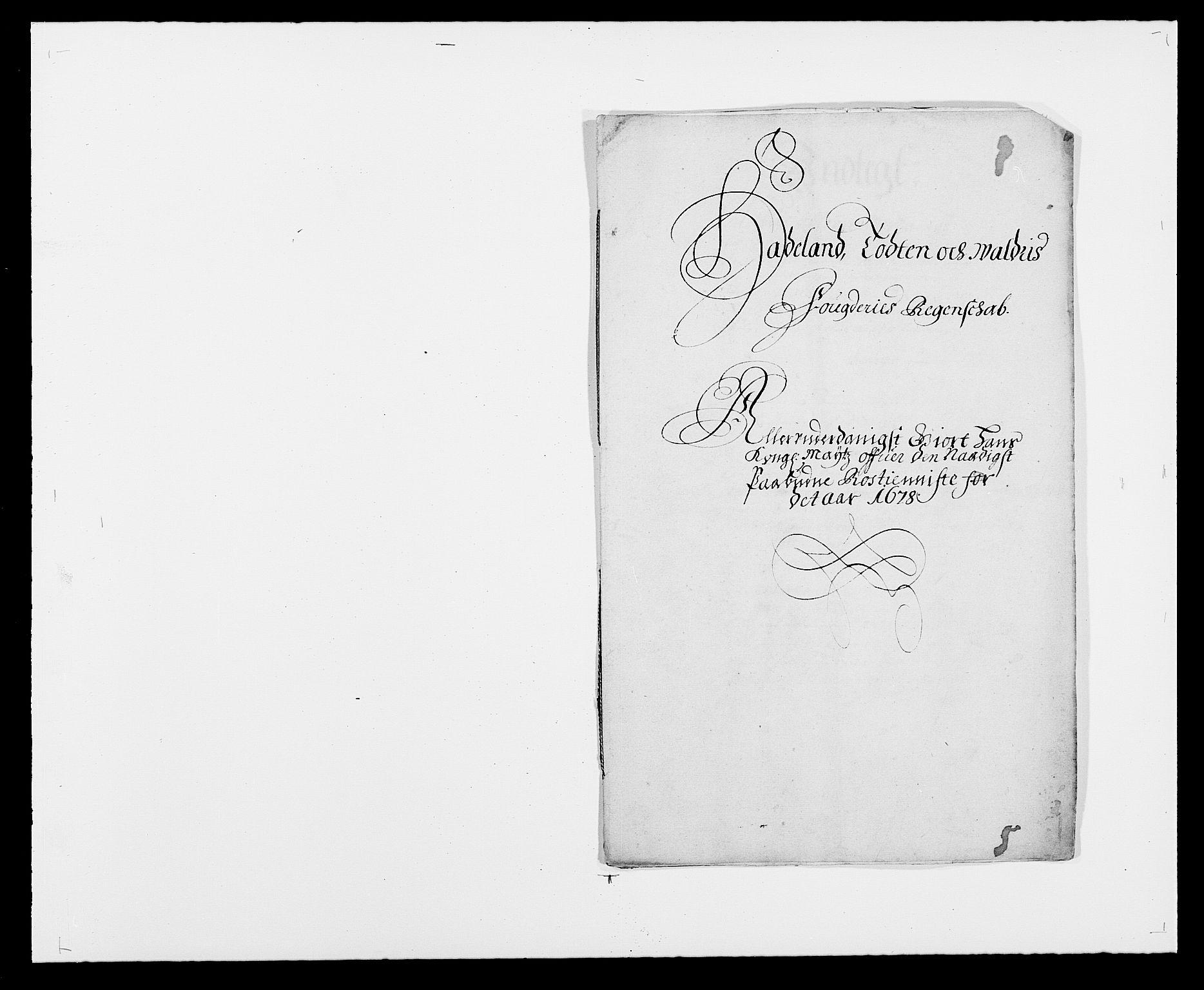 RA, Rentekammeret inntil 1814, Reviderte regnskaper, Fogderegnskap, R18/L1271: Fogderegnskap Hadeland, Toten og Valdres, 1678, s. 137