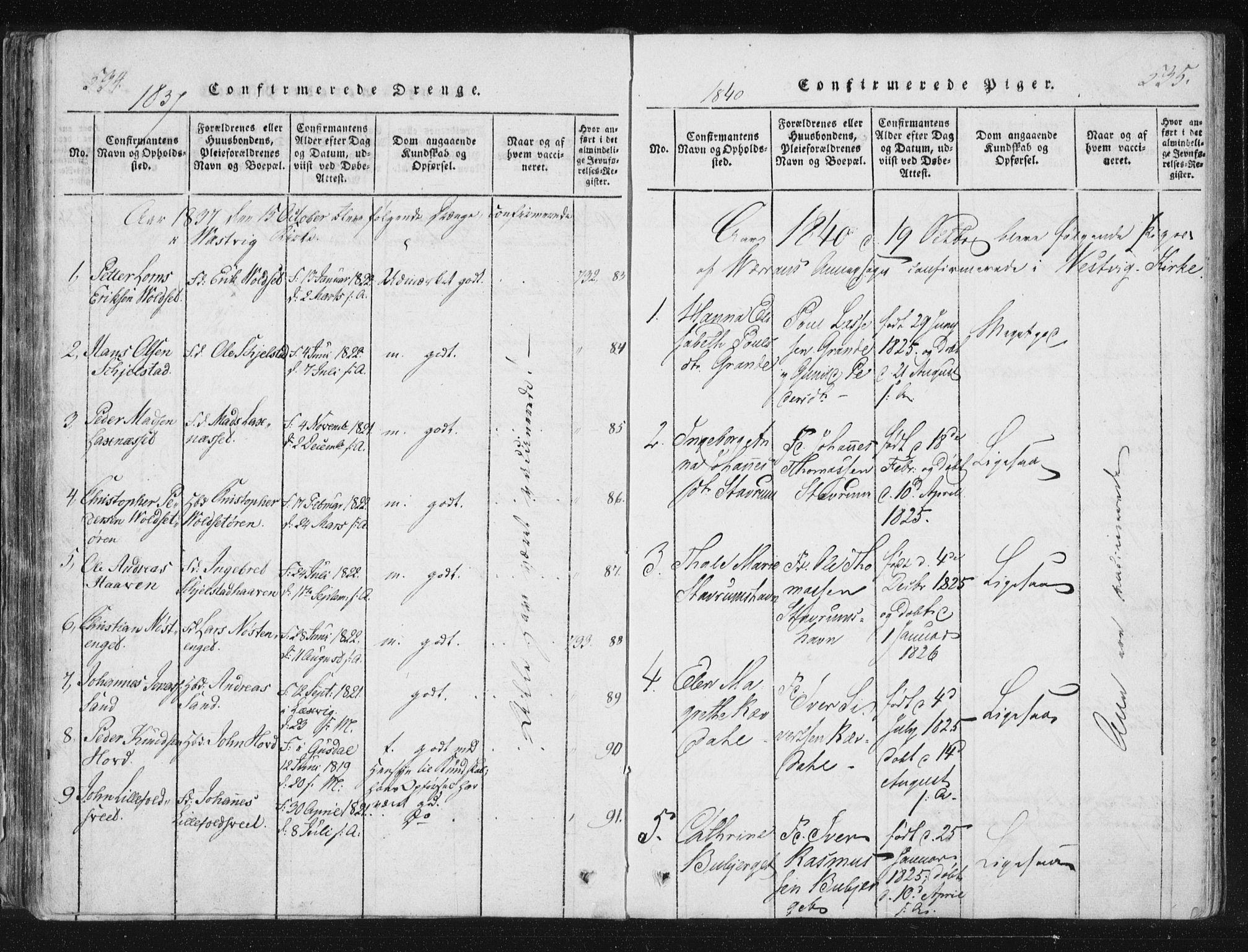 SAT, Ministerialprotokoller, klokkerbøker og fødselsregistre - Nord-Trøndelag, 744/L0417: Ministerialbok nr. 744A01, 1817-1842, s. 534-535
