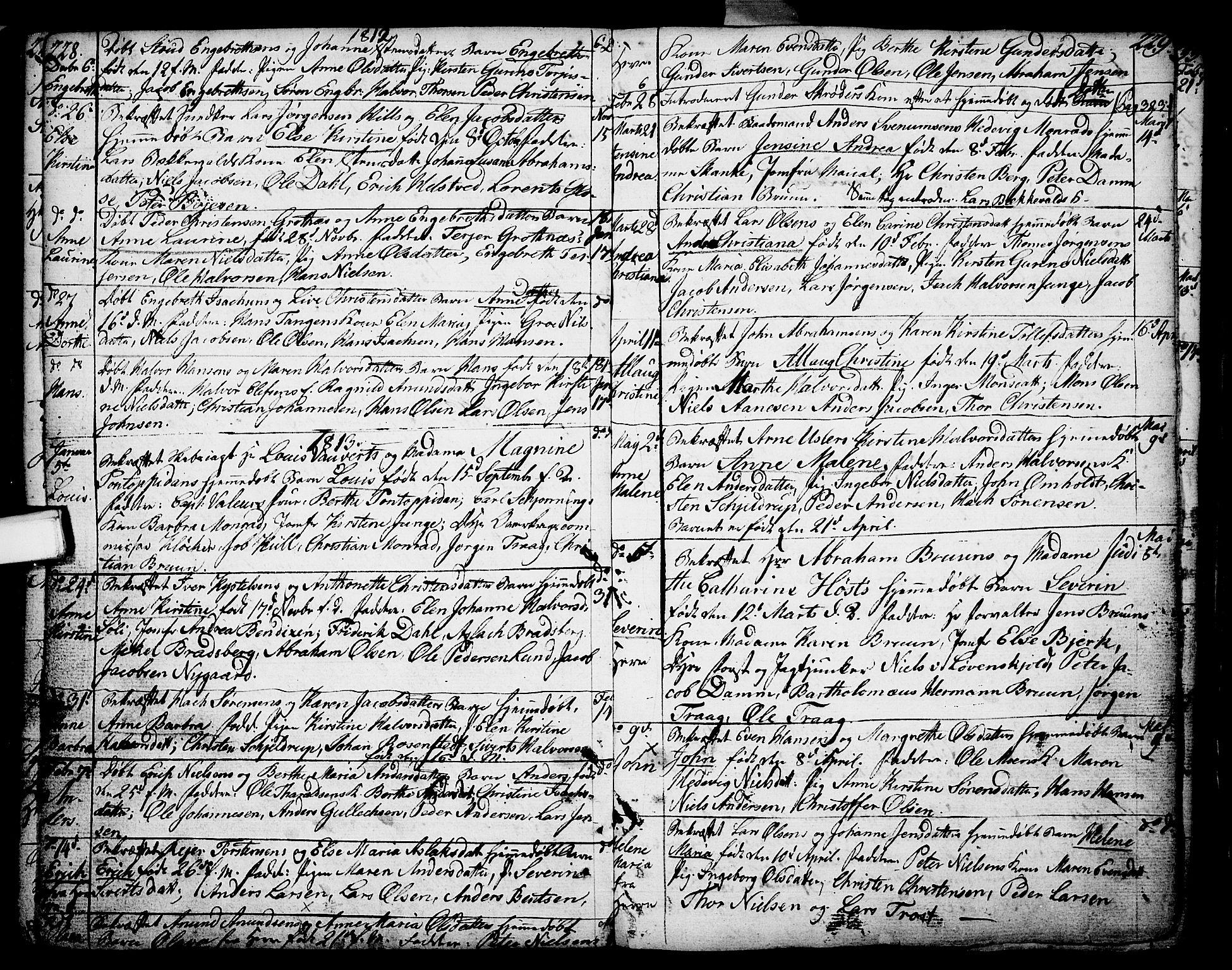 SAKO, Porsgrunn kirkebøker , F/Fa/L0002: Ministerialbok nr. 2, 1764-1814, s. 228-229