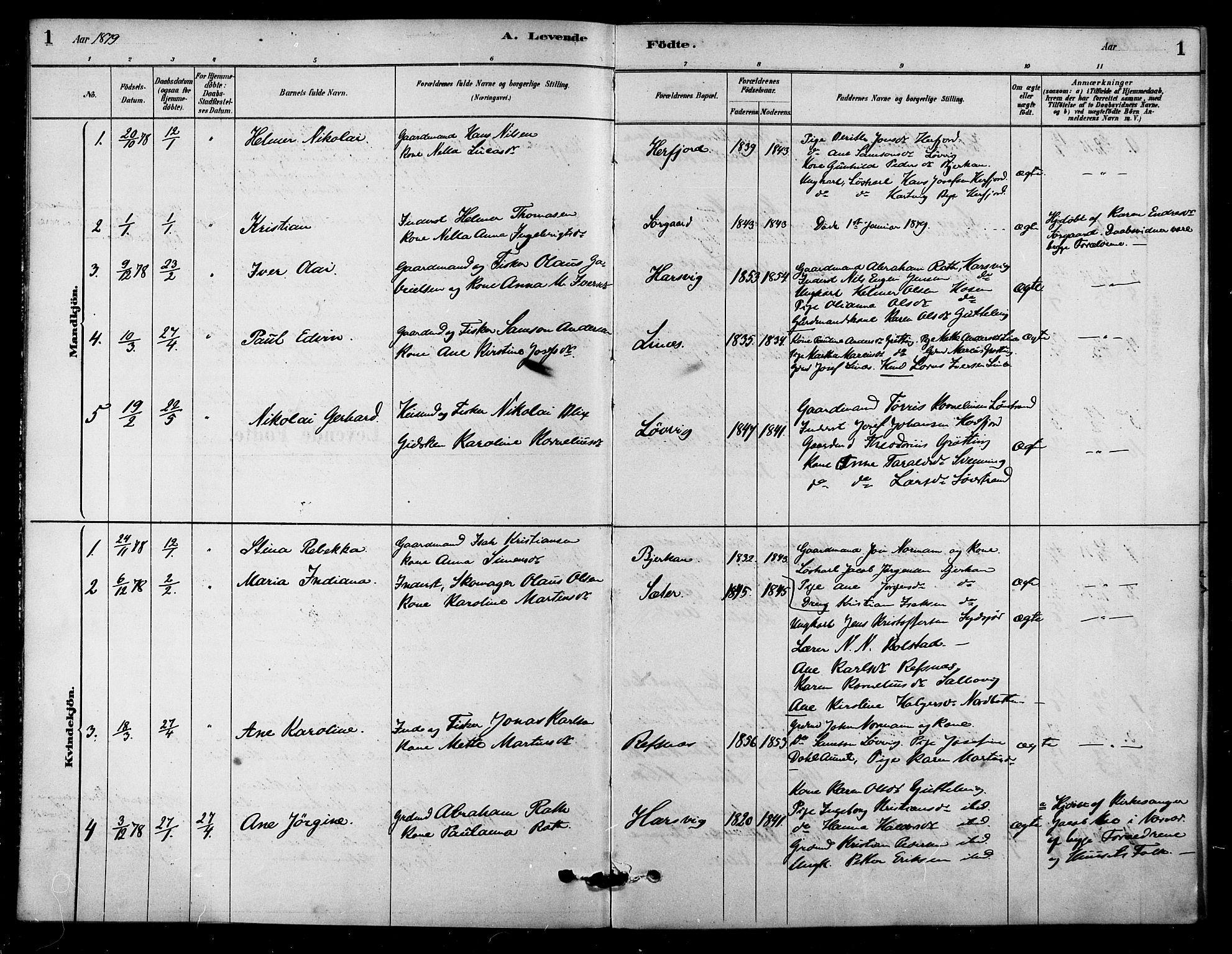 SAT, Ministerialprotokoller, klokkerbøker og fødselsregistre - Sør-Trøndelag, 656/L0692: Ministerialbok nr. 656A01, 1879-1893, s. 1