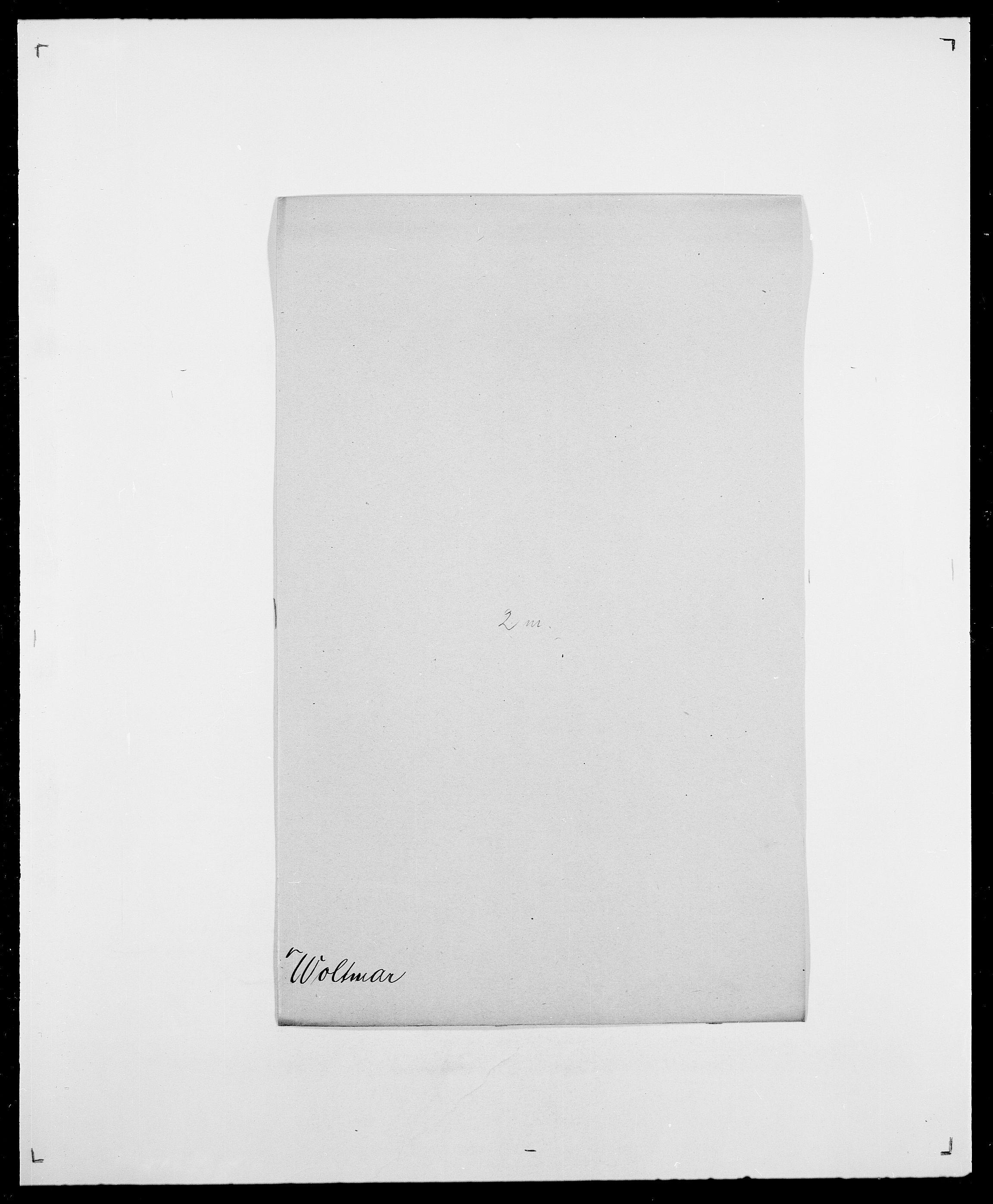 SAO, Delgobe, Charles Antoine - samling, D/Da/L0042: Vilain - Wulf, Wulff, se også Wolf, s. 666