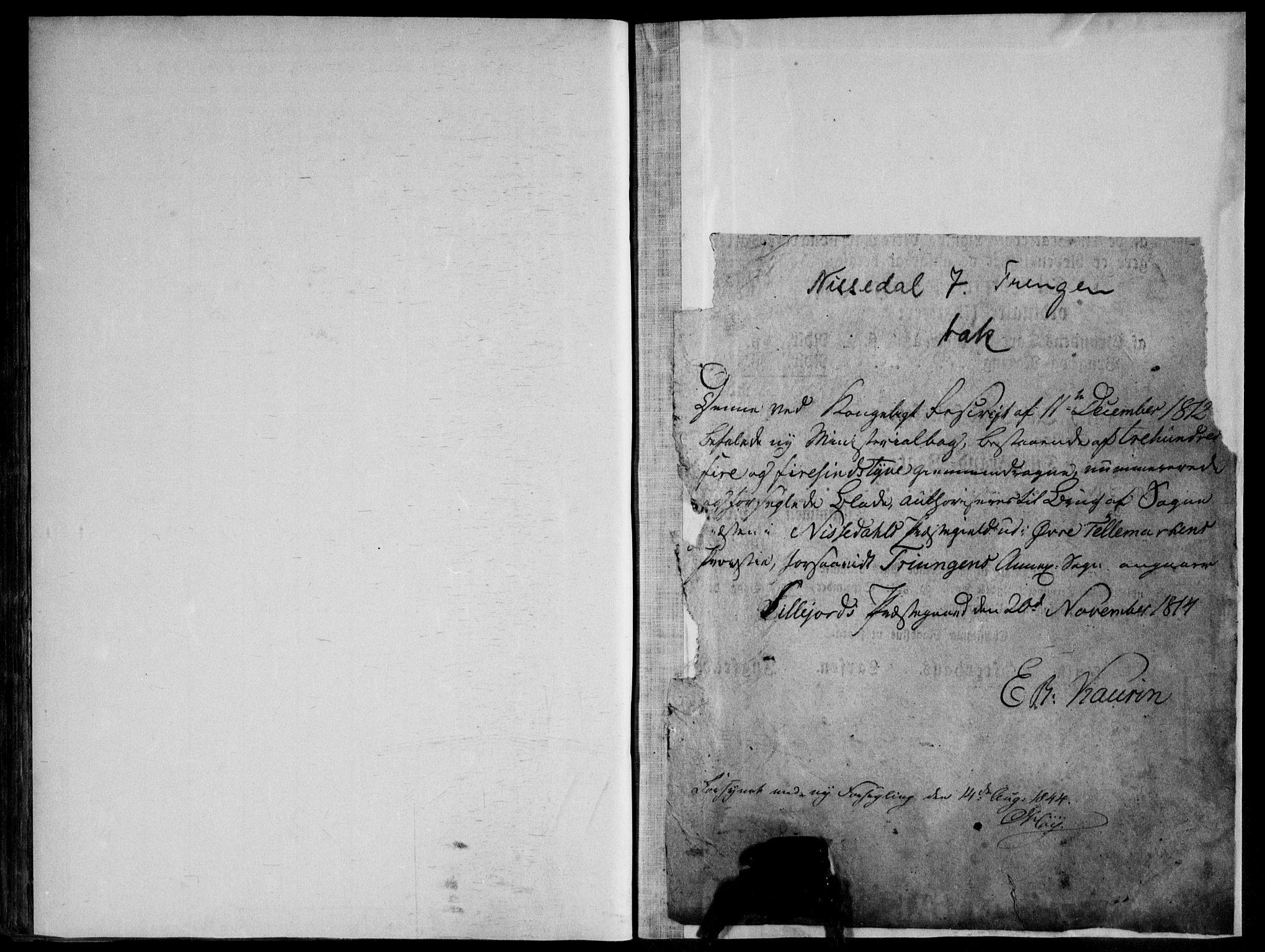 SAKO, Nissedal kirkebøker, F/Fb/L0001: Ministerialbok nr. II 1, 1814-1845