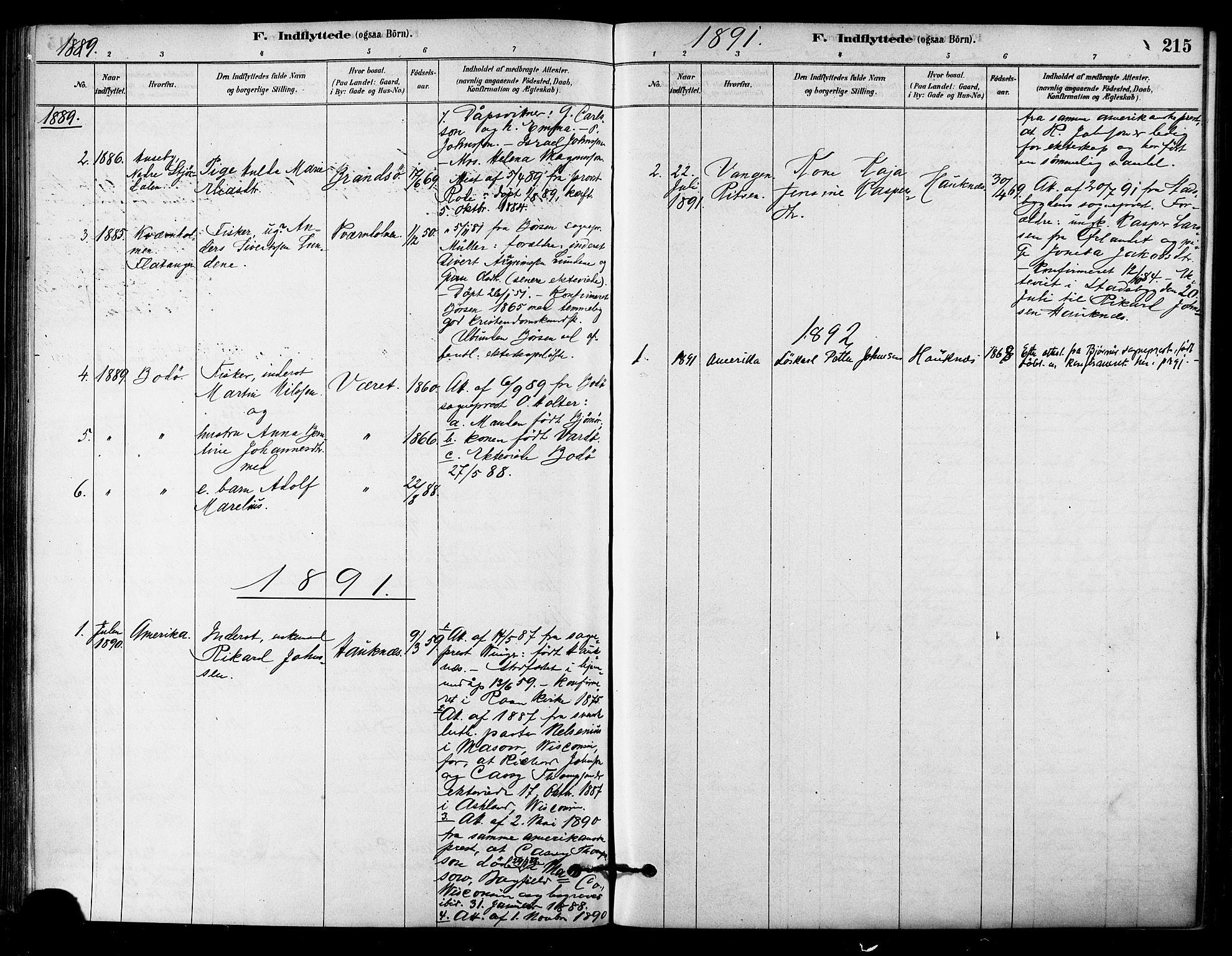 SAT, Ministerialprotokoller, klokkerbøker og fødselsregistre - Sør-Trøndelag, 657/L0707: Ministerialbok nr. 657A08, 1879-1893, s. 215