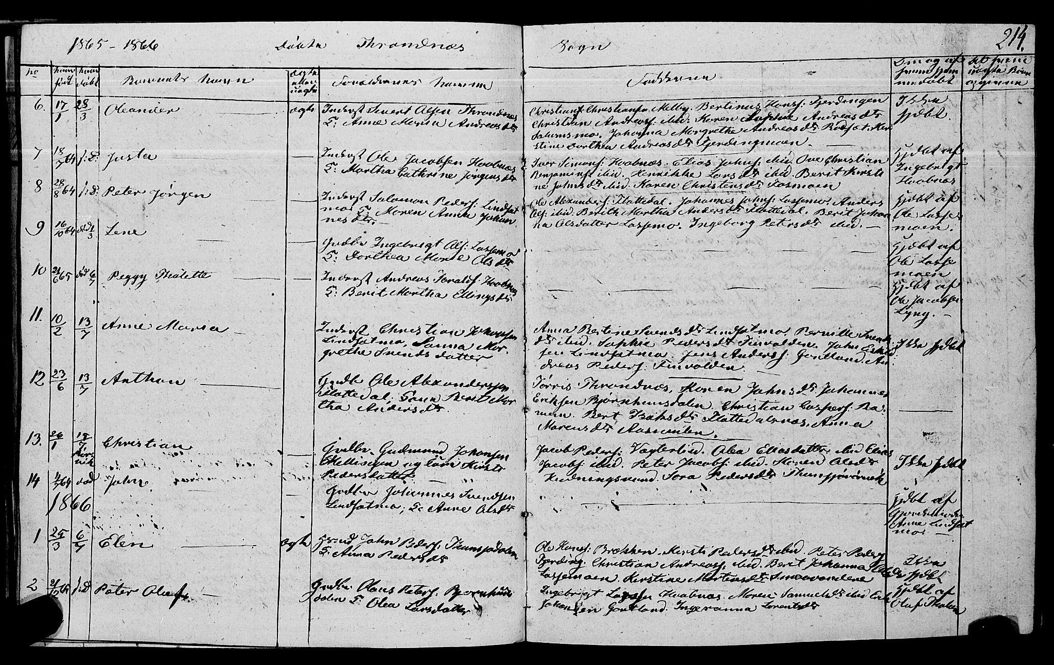SAT, Ministerialprotokoller, klokkerbøker og fødselsregistre - Nord-Trøndelag, 762/L0538: Ministerialbok nr. 762A02 /2, 1833-1879, s. 214
