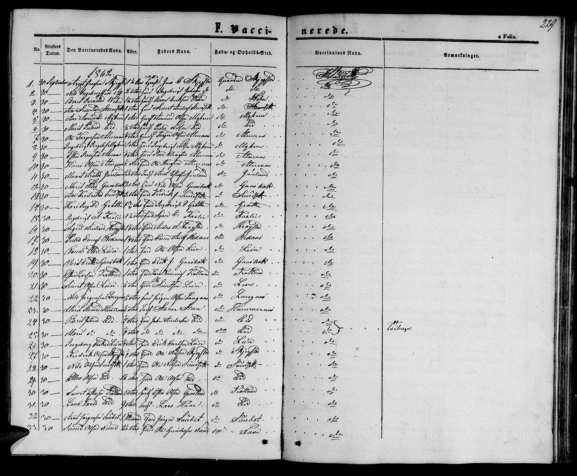 SAT, Ministerialprotokoller, klokkerbøker og fødselsregistre - Sør-Trøndelag, 694/L1131: Klokkerbok nr. 694C03, 1858-1886, s. 229