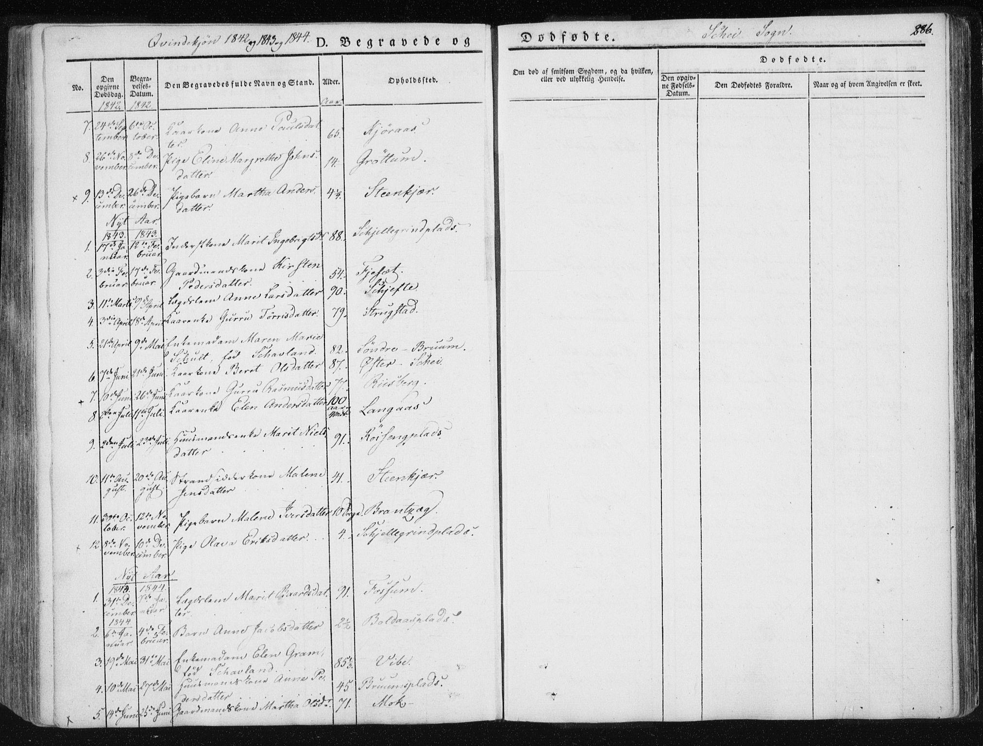 SAT, Ministerialprotokoller, klokkerbøker og fødselsregistre - Nord-Trøndelag, 735/L0339: Ministerialbok nr. 735A06 /2, 1836-1848, s. 286