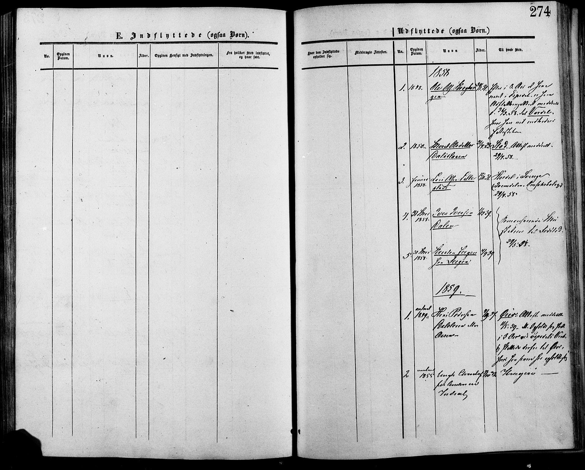 SAH, Lesja prestekontor, Ministerialbok nr. 7, 1854-1862, s. 274