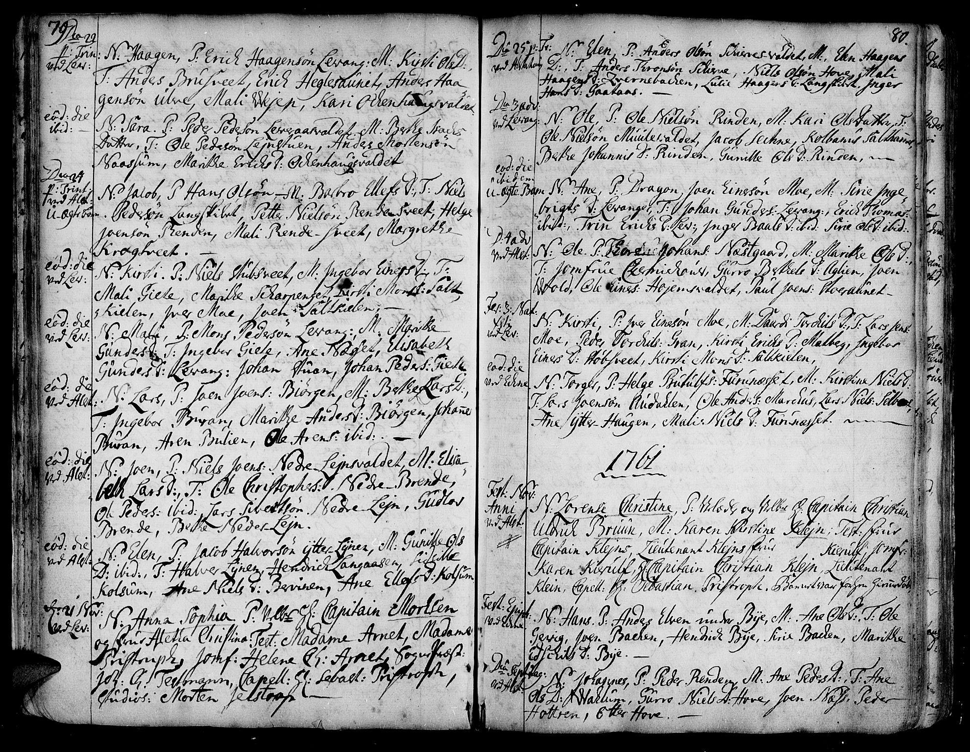 SAT, Ministerialprotokoller, klokkerbøker og fødselsregistre - Nord-Trøndelag, 717/L0141: Ministerialbok nr. 717A01, 1747-1803, s. 79-80