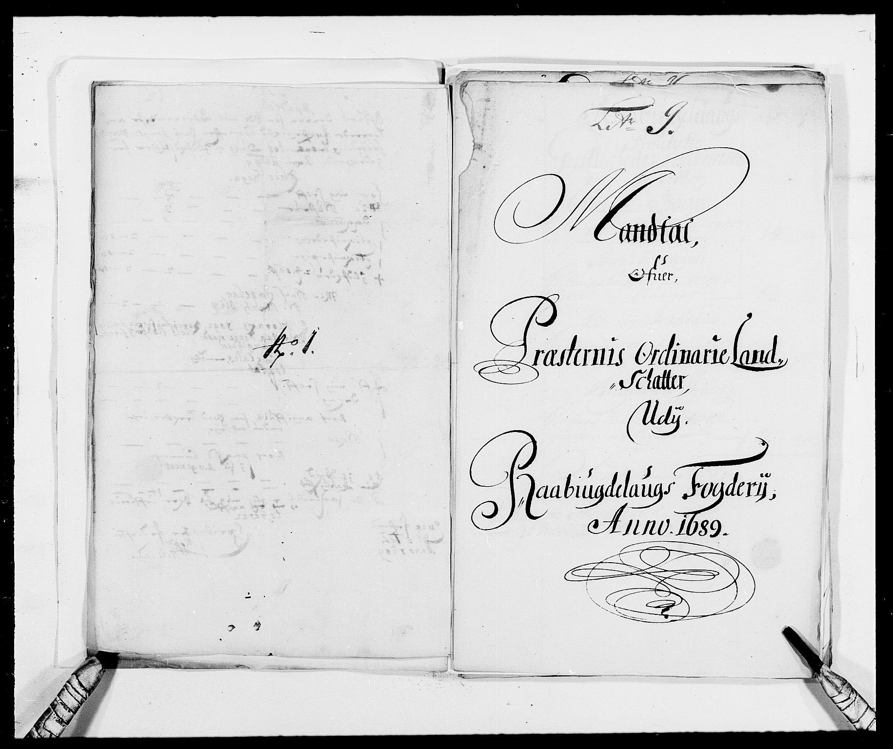 RA, Rentekammeret inntil 1814, Reviderte regnskaper, Fogderegnskap, R40/L2442: Fogderegnskap Råbyggelag, 1689-1690, s. 92