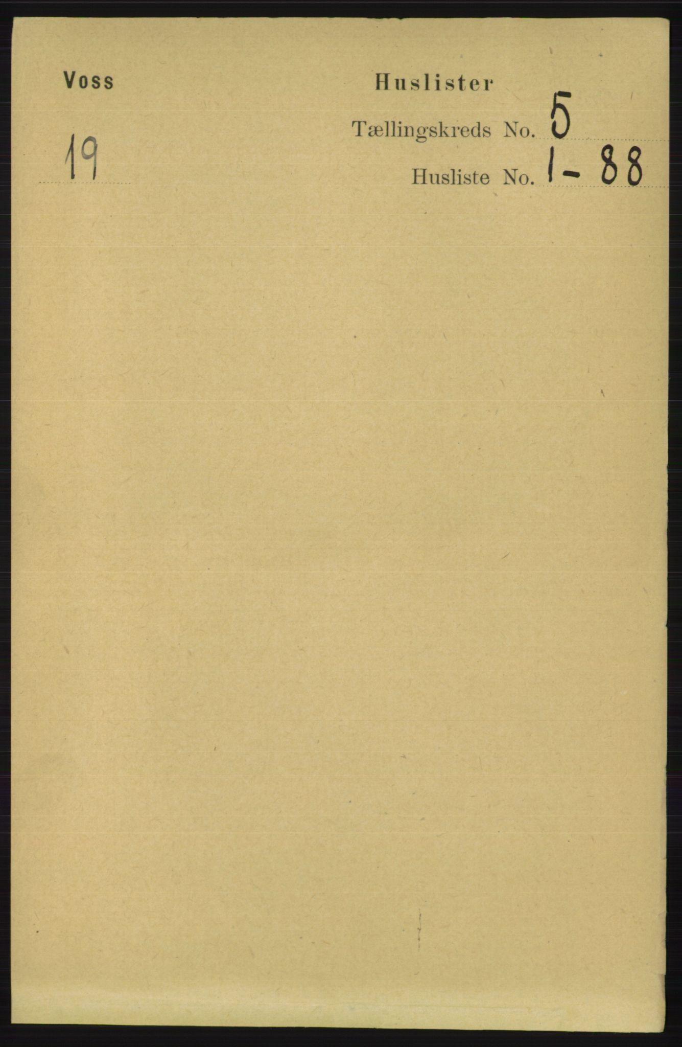 RA, Folketelling 1891 for 1235 Voss herred, 1891, s. 2612
