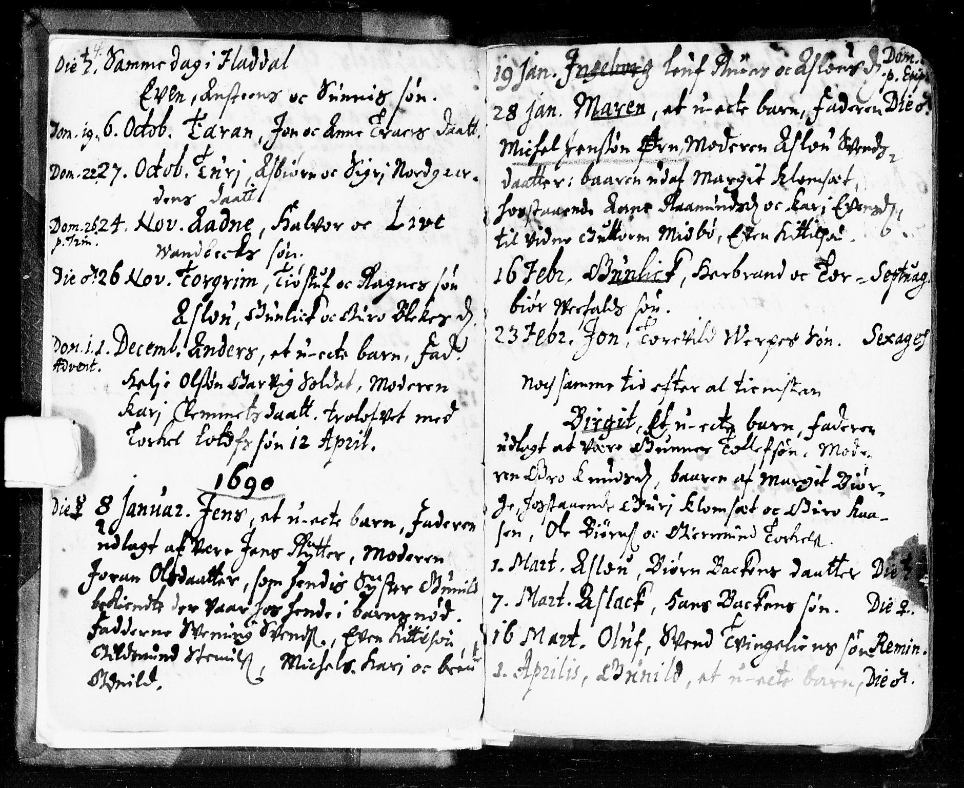 SAKO, Seljord kirkebøker, F/Fa/L0002: Ministerialbok nr. I 2, 1689-1713, s. 4-5