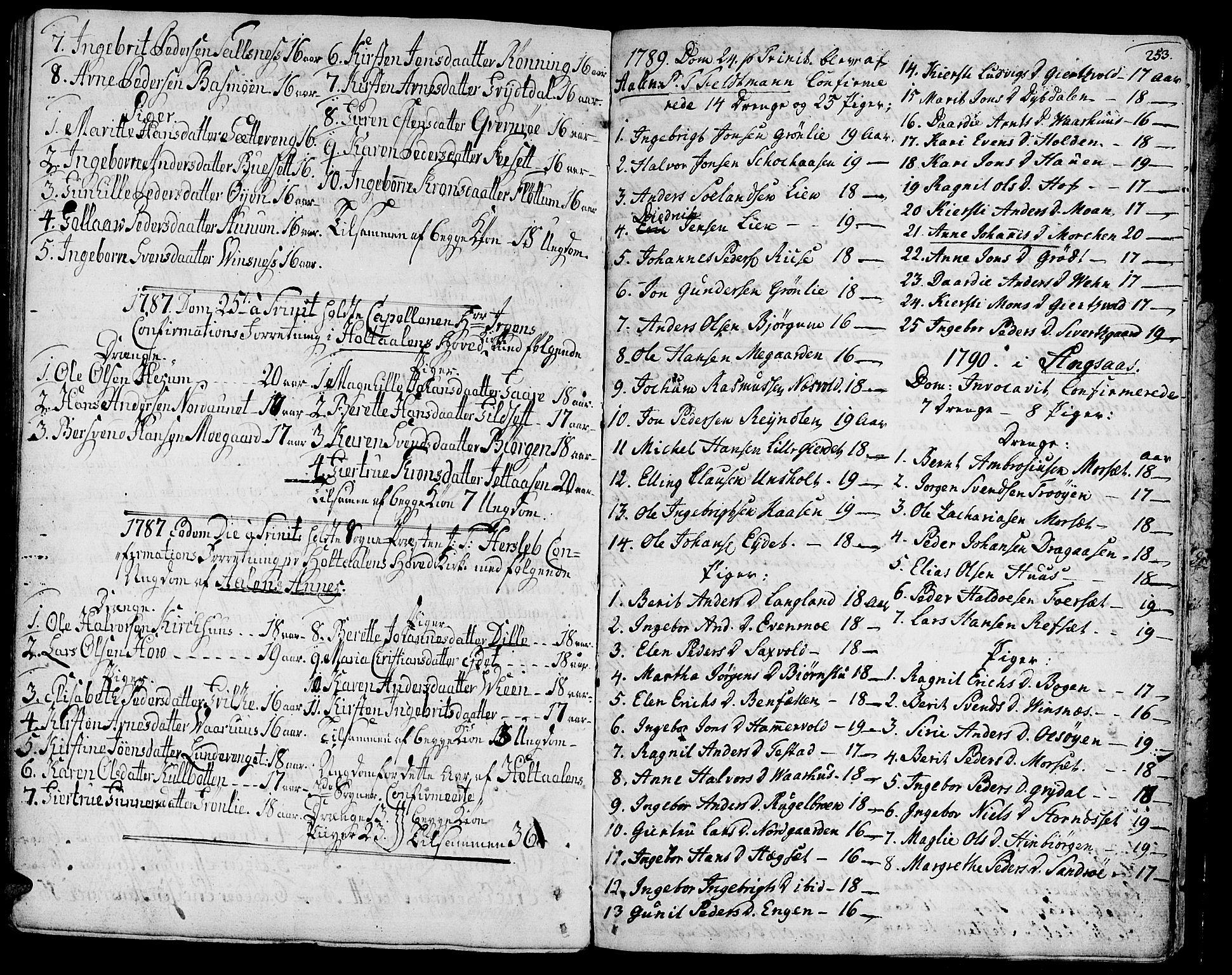 SAT, Ministerialprotokoller, klokkerbøker og fødselsregistre - Sør-Trøndelag, 685/L0952: Ministerialbok nr. 685A01, 1745-1804, s. 253