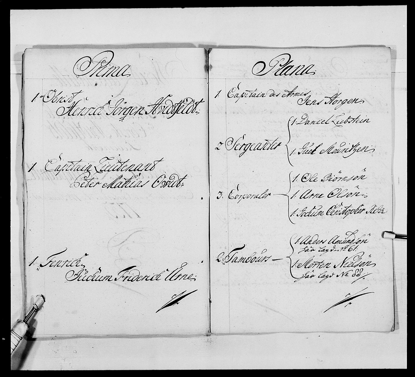 RA, Kommanderende general (KG I) med Det norske krigsdirektorium, E/Ea/L0495: 1. Smålenske regiment, 1732-1763, s. 34