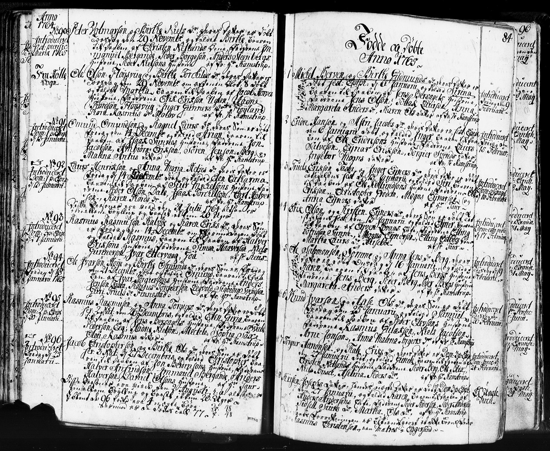 SAST, Domkirken sokneprestkontor, 30/30BB/L0004: Klokkerbok nr. B 4, 1752-1790, s. 84