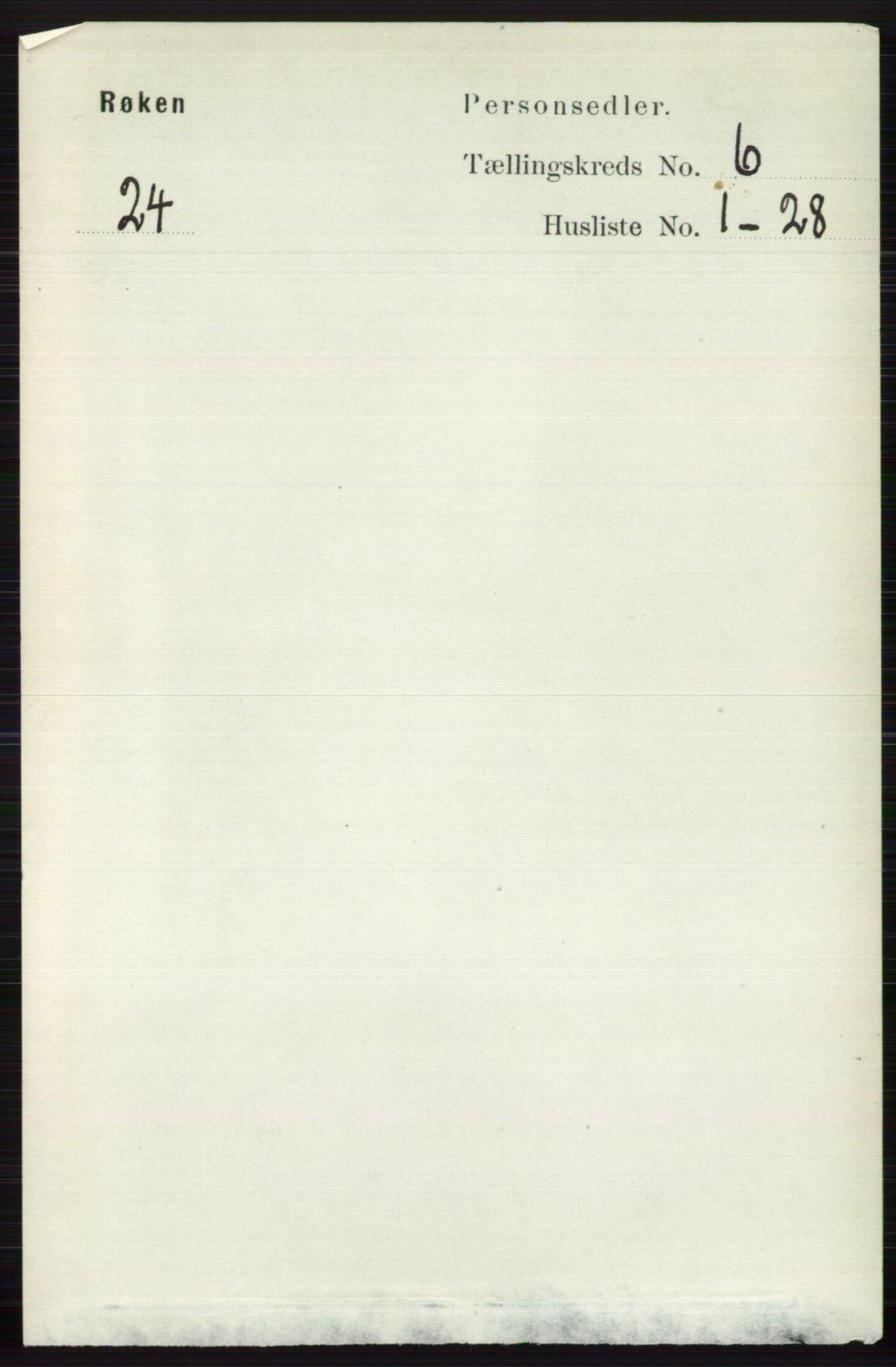 RA, Folketelling 1891 for 0627 Røyken herred, 1891, s. 3638