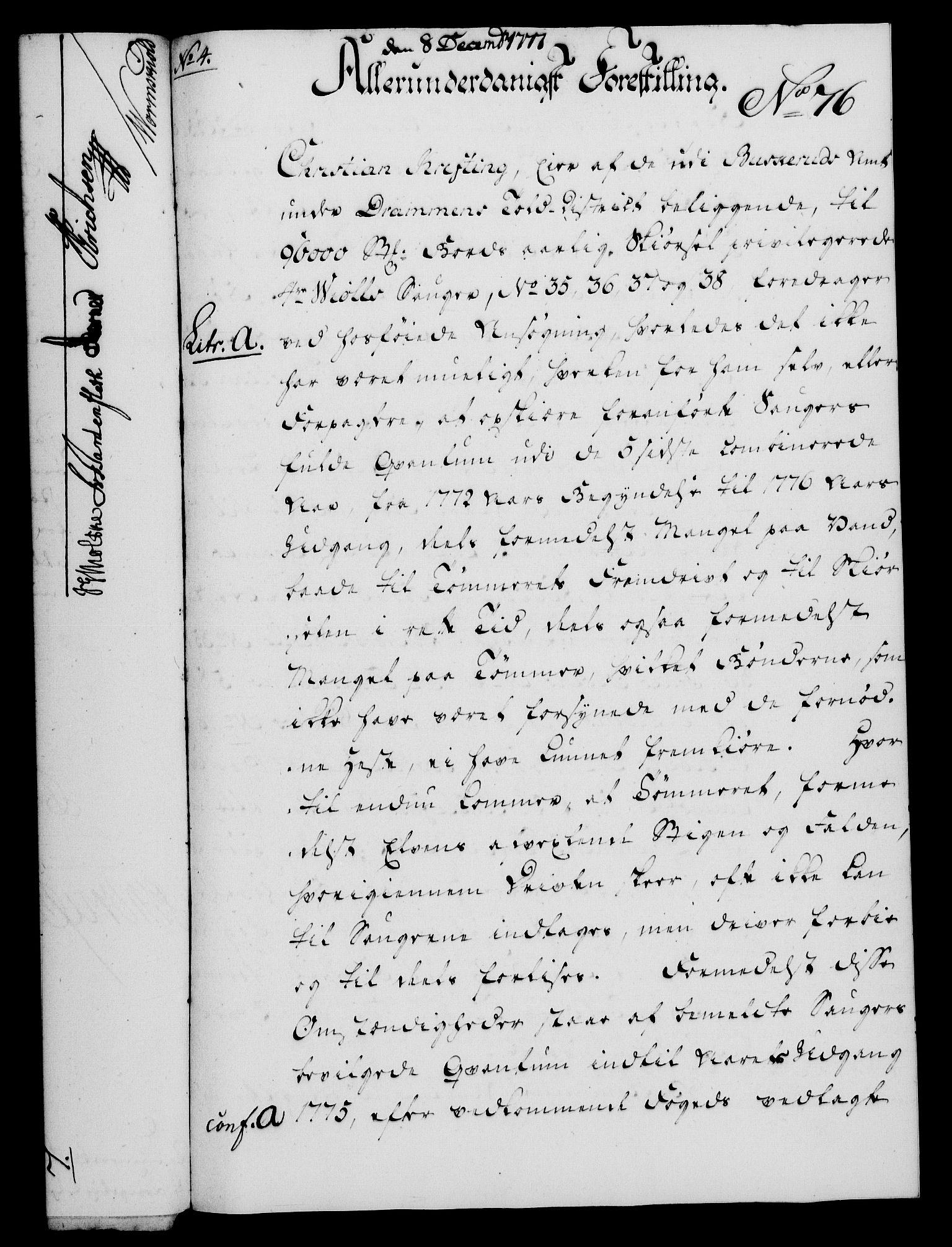 RA, Rentekammeret, Kammerkanselliet, G/Gf/Gfa/L0059: Norsk relasjons- og resolusjonsprotokoll (merket RK 52.59), 1777, s. 387