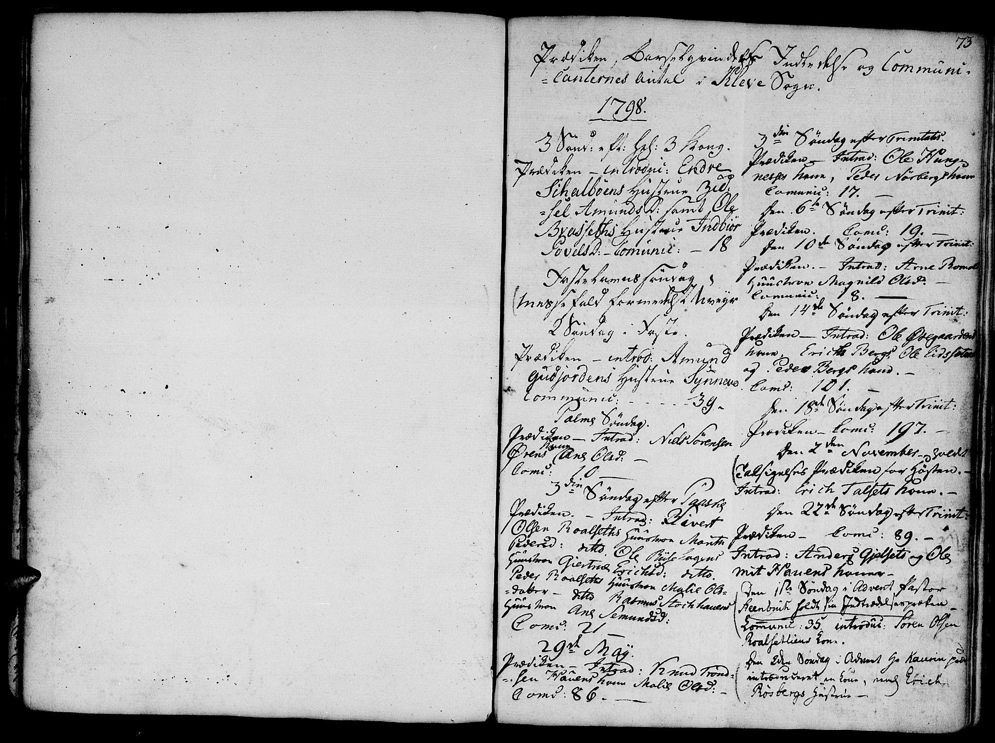 SAT, Ministerialprotokoller, klokkerbøker og fødselsregistre - Møre og Romsdal, 555/L0650: Ministerialbok nr. 555A02 /2, 1798-1821, s. 73