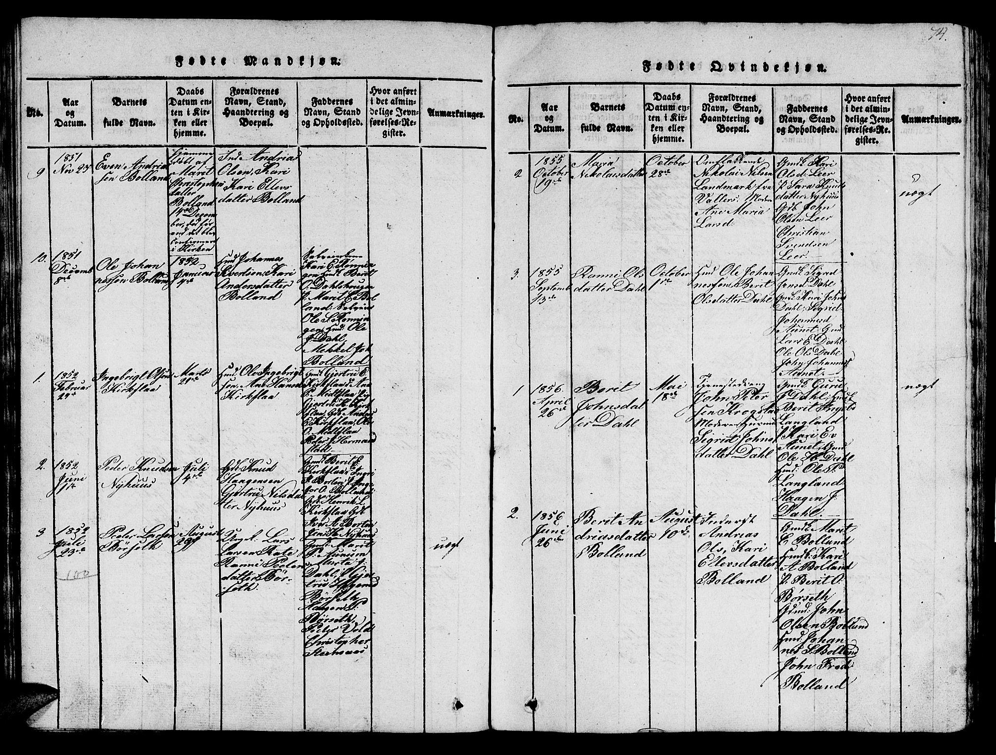 SAT, Ministerialprotokoller, klokkerbøker og fødselsregistre - Sør-Trøndelag, 693/L1121: Klokkerbok nr. 693C02, 1816-1869, s. 74