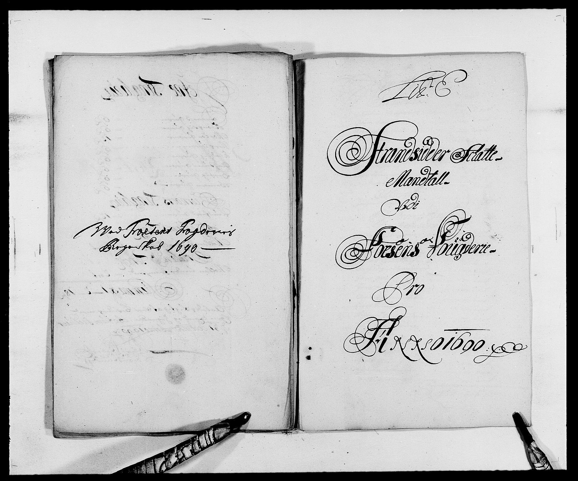 RA, Rentekammeret inntil 1814, Reviderte regnskaper, Fogderegnskap, R57/L3848: Fogderegnskap Fosen, 1690-1691, s. 80