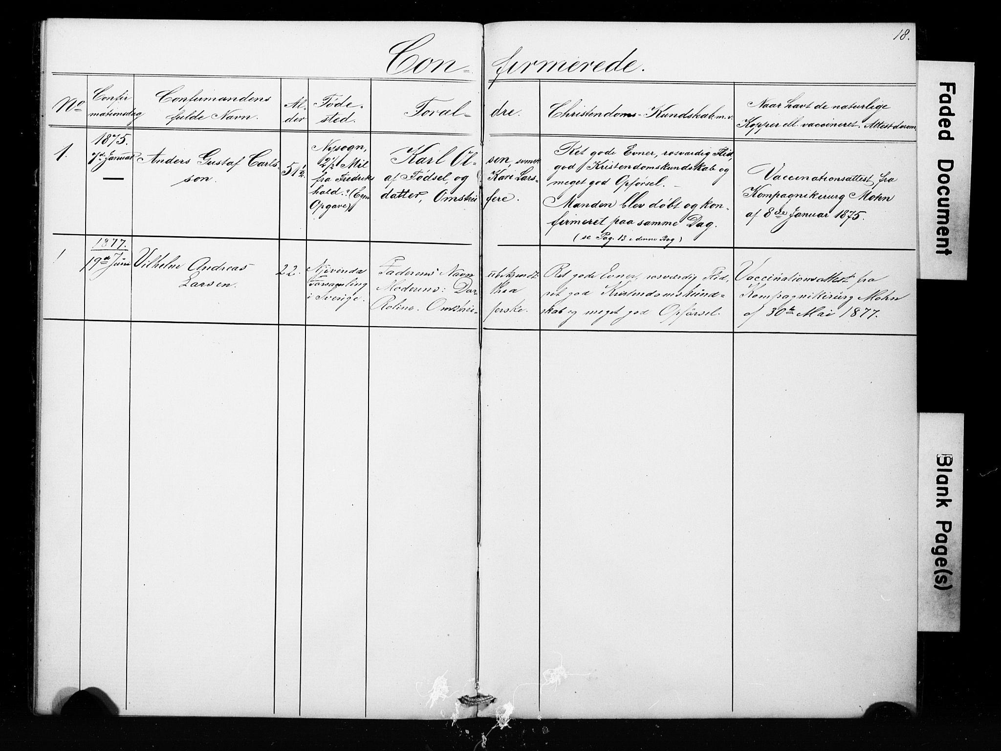 SAB, Bergens strafanstalts sokneprestembete*, Klokkerbok nr. A 1, 1874-1884, s. 18