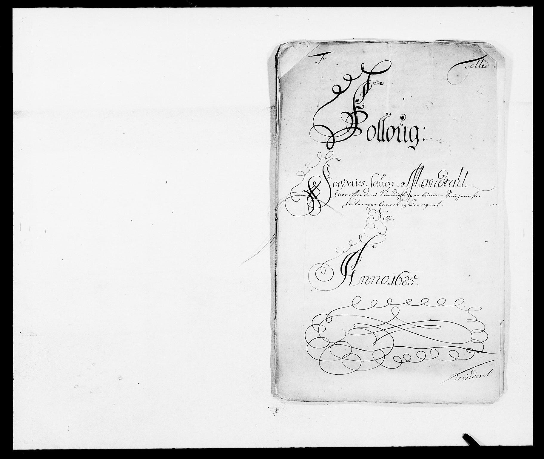 RA, Rentekammeret inntil 1814, Reviderte regnskaper, Fogderegnskap, R09/L0433: Fogderegnskap Follo, 1685-1686, s. 172