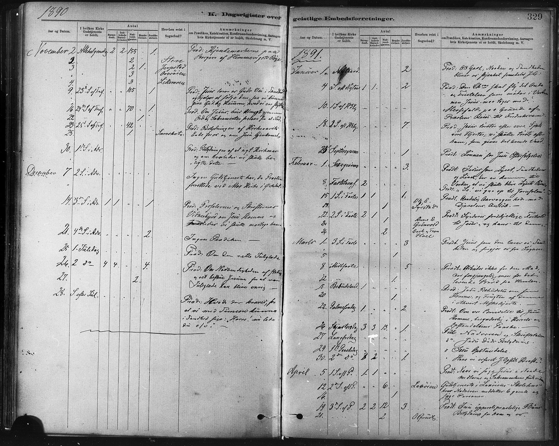 SAT, Ministerialprotokoller, klokkerbøker og fødselsregistre - Sør-Trøndelag, 672/L0857: Ministerialbok nr. 672A09, 1882-1893, s. 329
