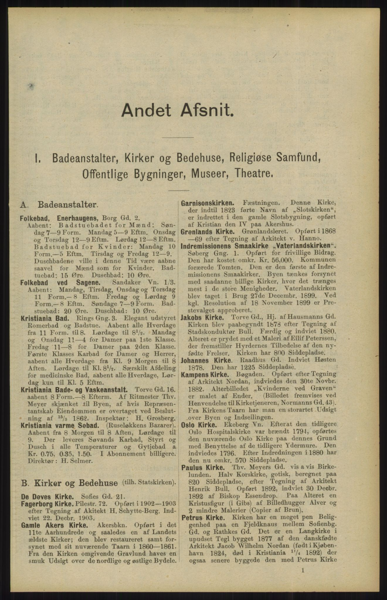 RA, Kristiania adressebok (publikasjon)*, 1904, s. 91