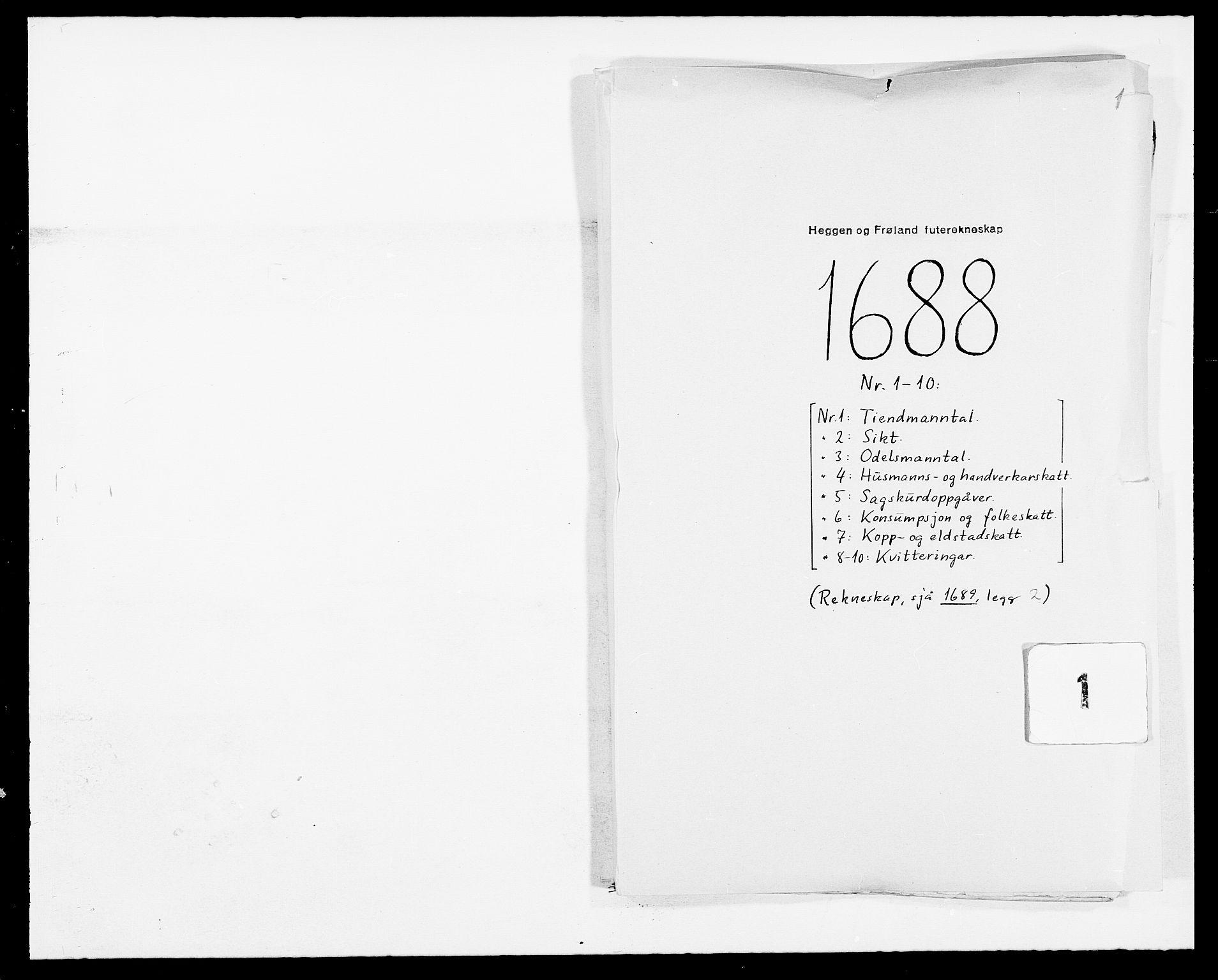 RA, Rentekammeret inntil 1814, Reviderte regnskaper, Fogderegnskap, R06/L0282: Fogderegnskap Heggen og Frøland, 1687-1690, s. 65