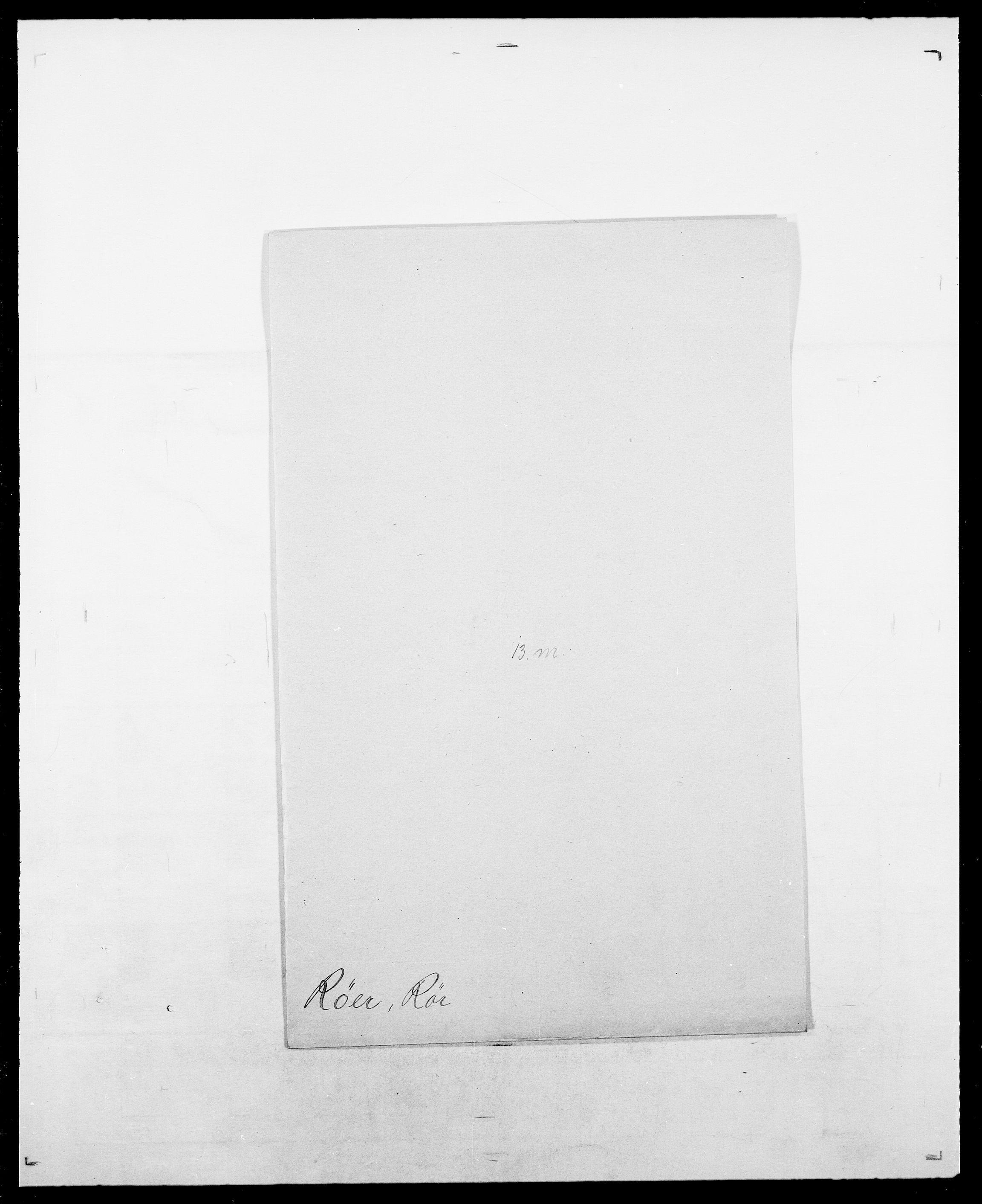 SAO, Delgobe, Charles Antoine - samling, D/Da/L0033: Roald - Røyem, s. 669