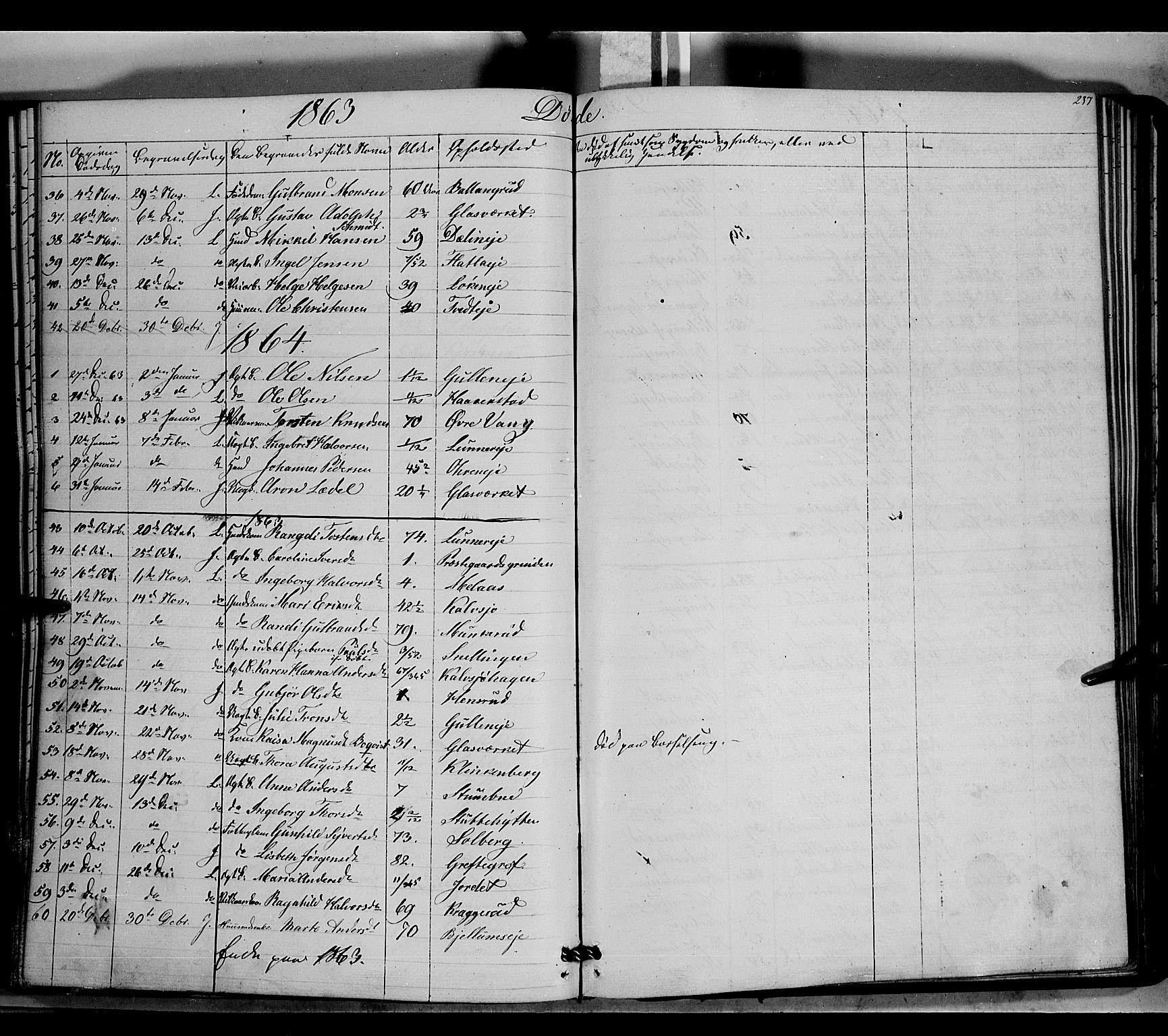SAH, Jevnaker prestekontor, Ministerialbok nr. 7, 1858-1876, s. 237