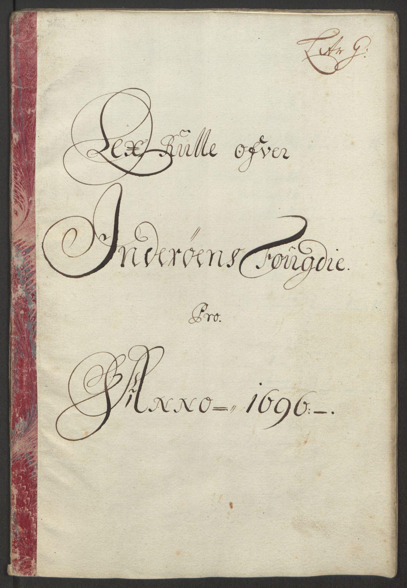 RA, Rentekammeret inntil 1814, Reviderte regnskaper, Fogderegnskap, R63/L4309: Fogderegnskap Inderøy, 1695-1697, s. 254