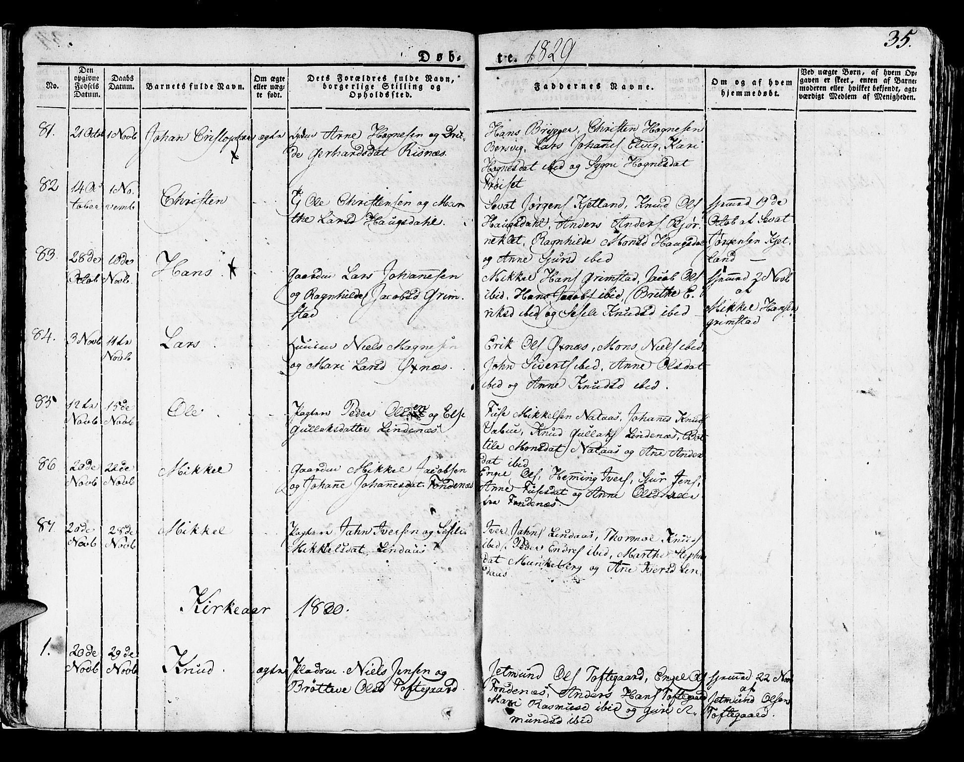 SAB, Lindås Sokneprestembete, H/Haa: Ministerialbok nr. A 8, 1823-1836, s. 35