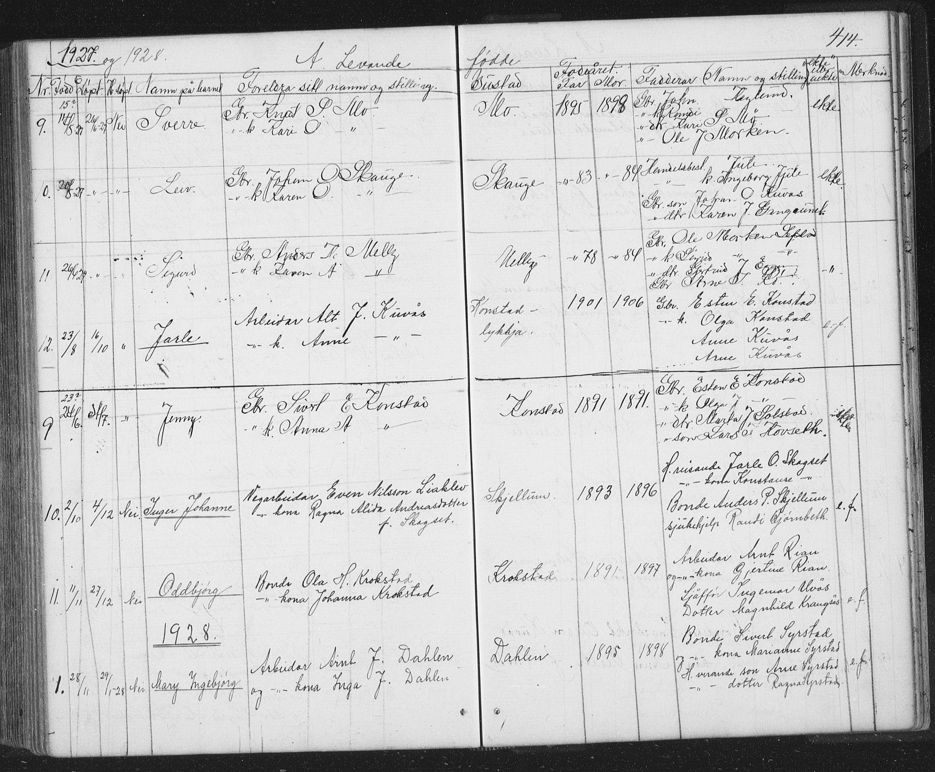 SAT, Ministerialprotokoller, klokkerbøker og fødselsregistre - Sør-Trøndelag, 667/L0798: Klokkerbok nr. 667C03, 1867-1929, s. 414