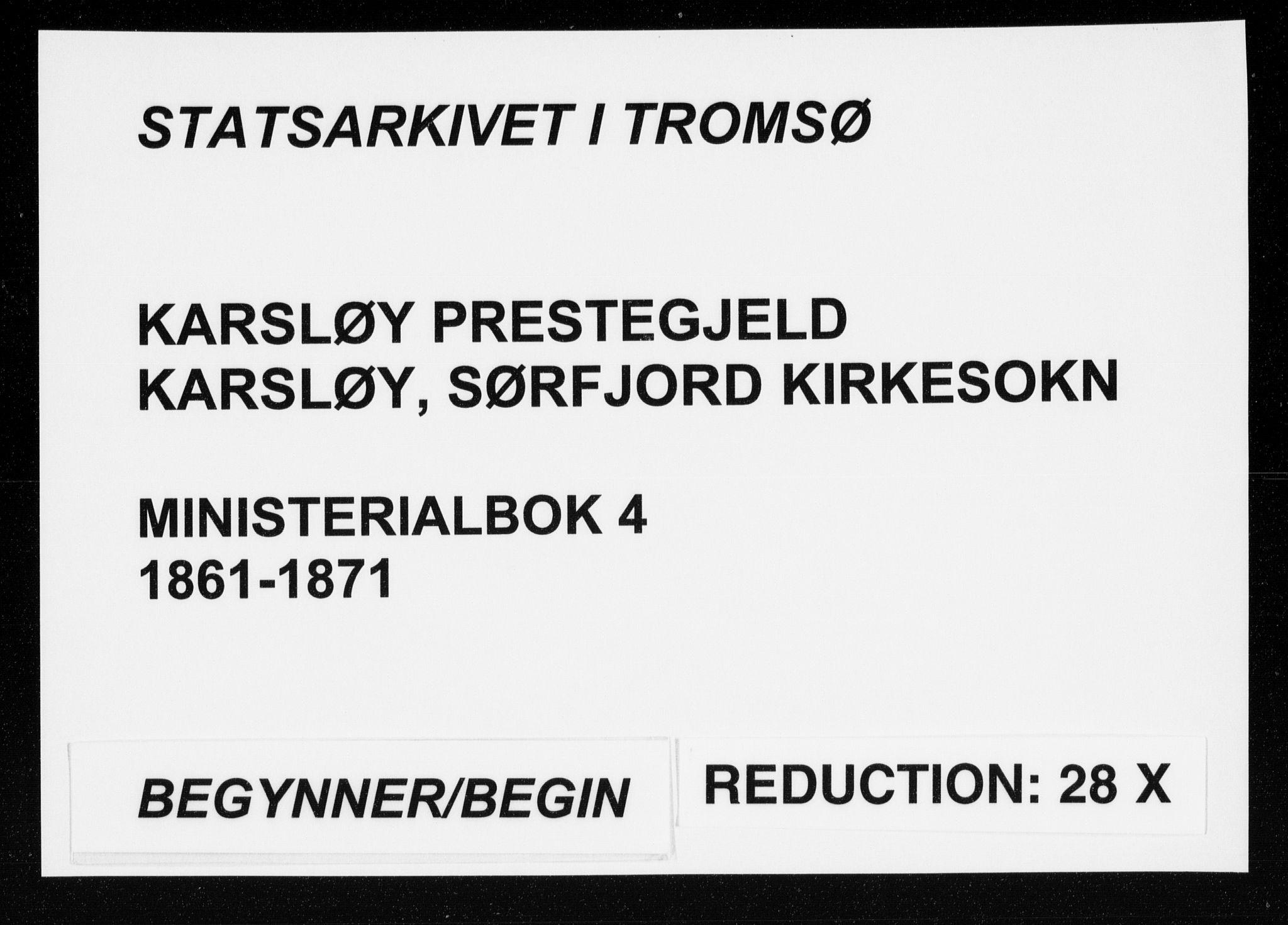 SATØ, Karlsøy sokneprestembete, Ministerialbok nr. 4, 1861-1871