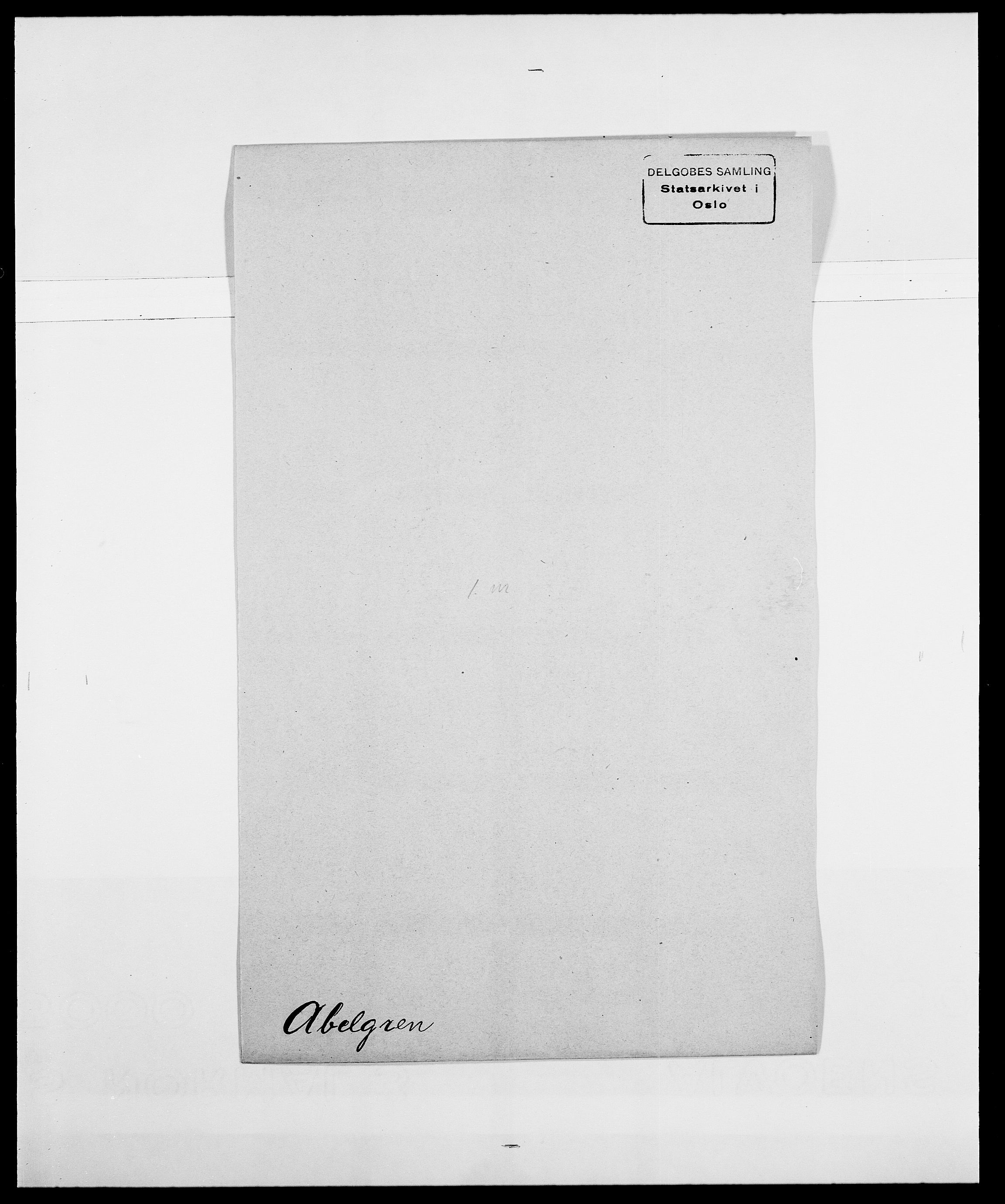 SAO, Delgobe, Charles Antoine - samling, D/Da/L0001: Aabye - Angerman, s. 169