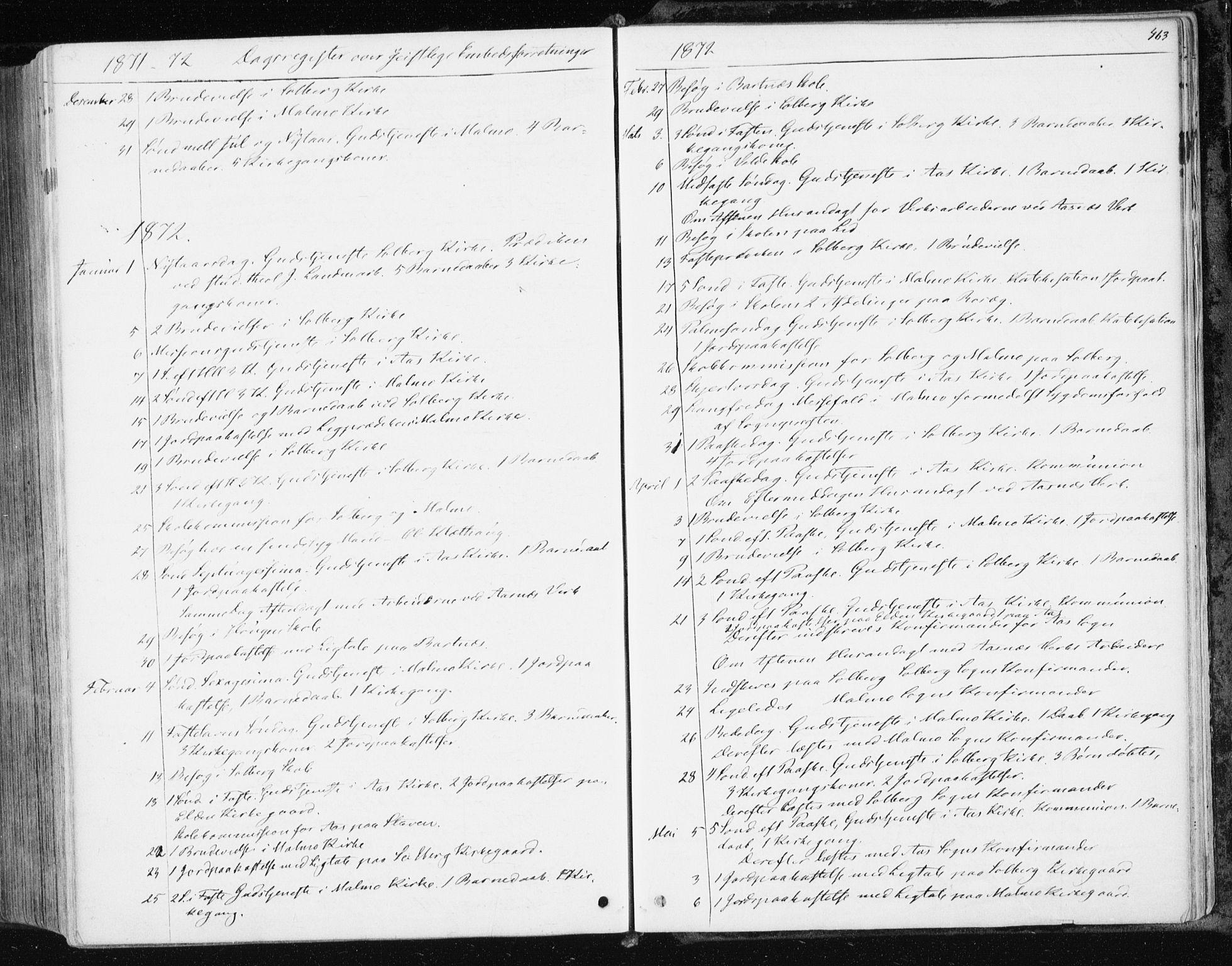SAT, Ministerialprotokoller, klokkerbøker og fødselsregistre - Nord-Trøndelag, 741/L0394: Ministerialbok nr. 741A08, 1864-1877, s. 463