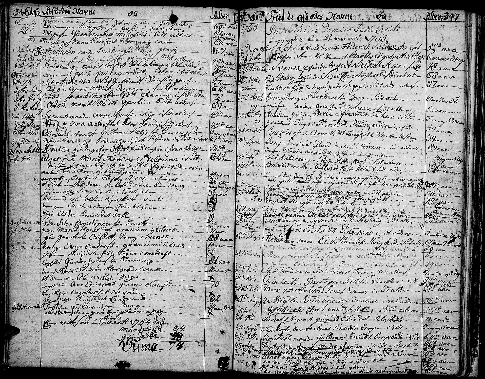 SAH, Aurdal prestekontor, Ministerialbok nr. 5, 1763-1781, s. 346-347