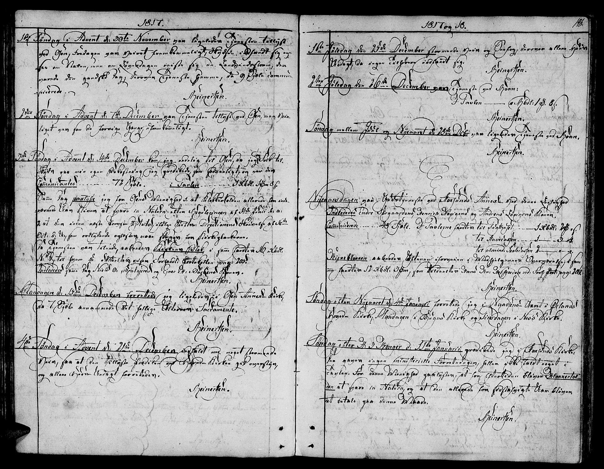 SAT, Ministerialprotokoller, klokkerbøker og fødselsregistre - Sør-Trøndelag, 657/L0701: Ministerialbok nr. 657A02, 1802-1831, s. 146