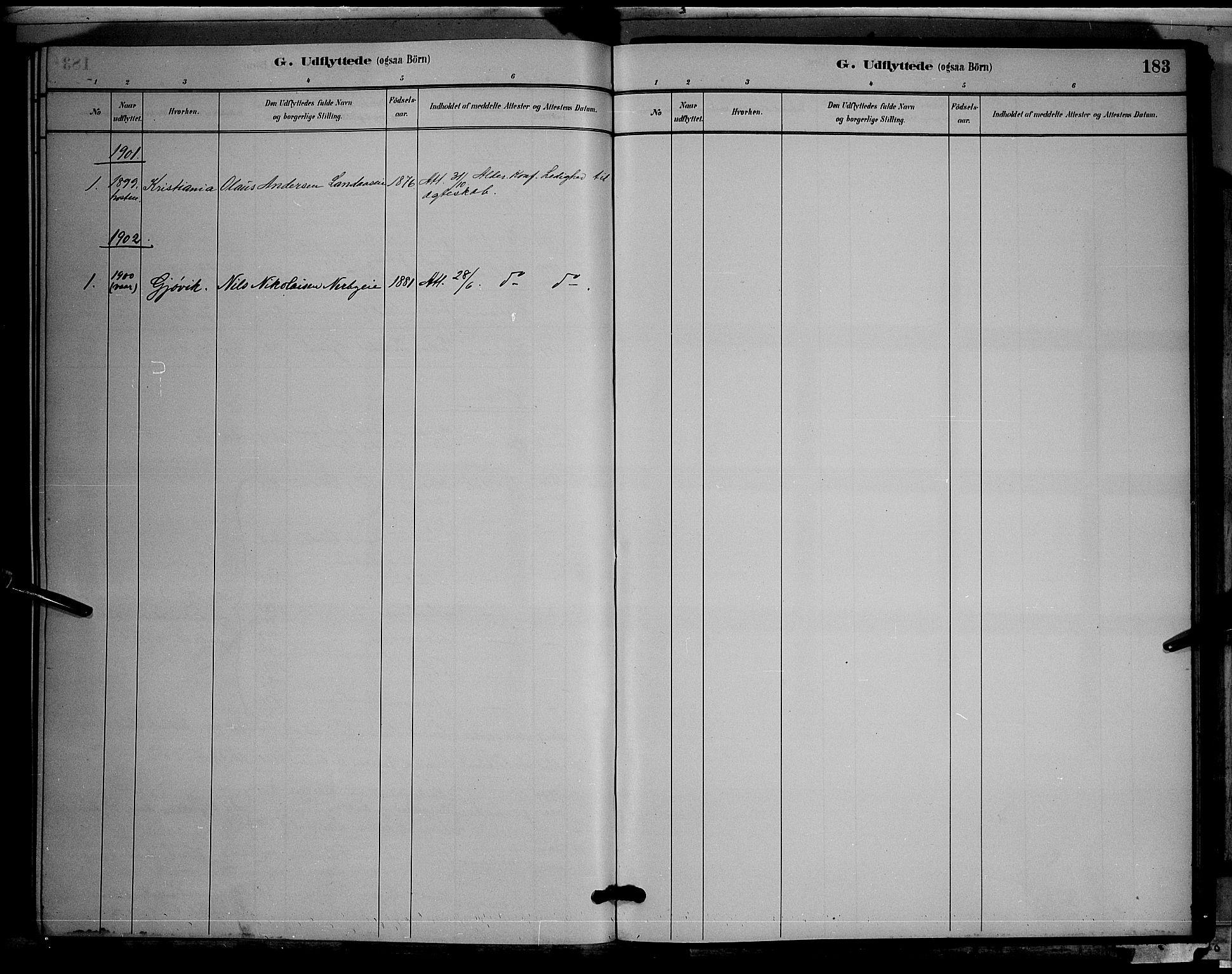 SAH, Søndre Land prestekontor, L/L0003: Klokkerbok nr. 3, 1884-1902, s. 183