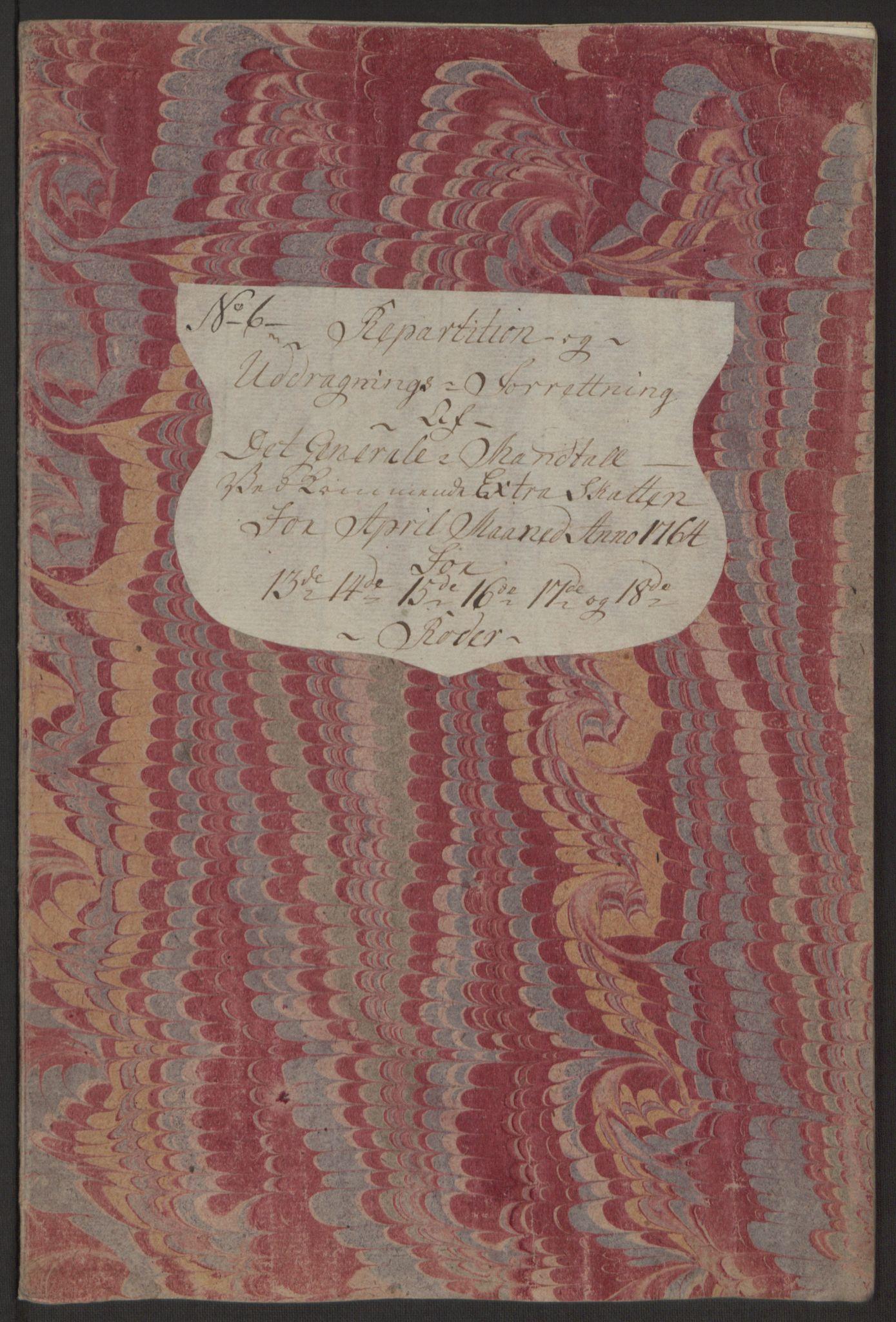 RA, Rentekammeret inntil 1814, Reviderte regnskaper, Byregnskaper, R/Rp/L0368: [P21] Kontribusjonsregnskap, 1764, s. 106