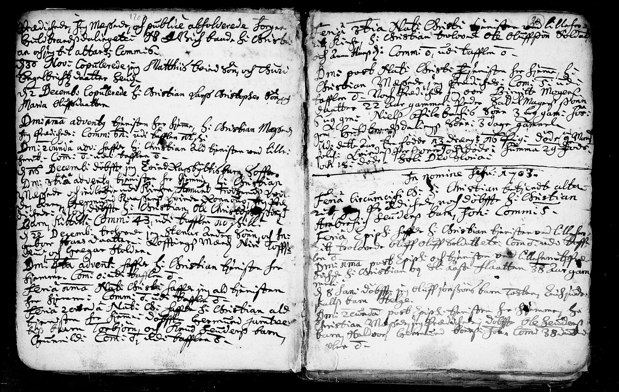 SAKO, Heddal kirkebøker, F/Fa/L0002: Ministerialbok nr. I 2, 1699-1722, s. 20